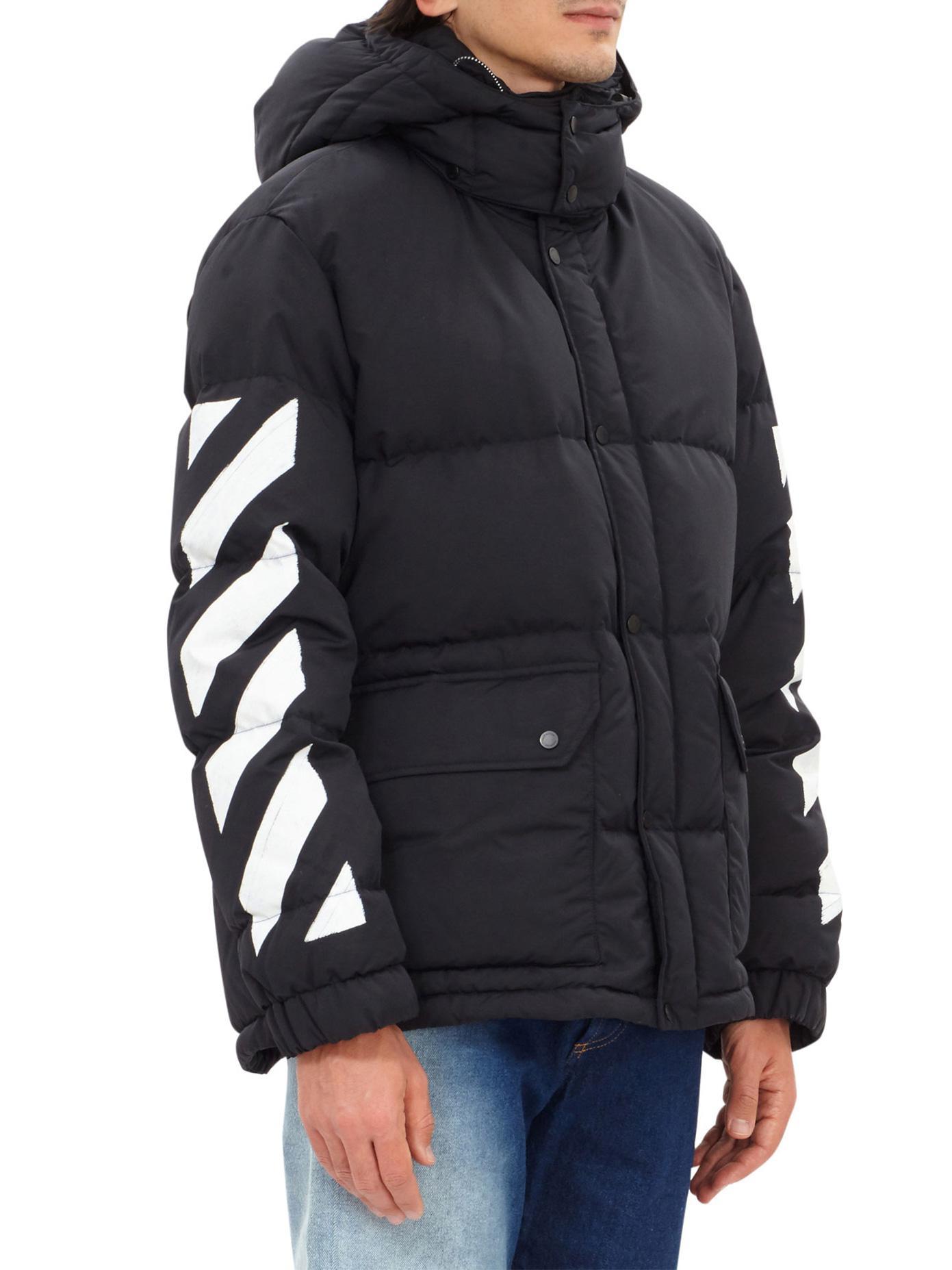 Off-White c/o Virgil Abloh Diag Brushed Nylon Down Jacket ...