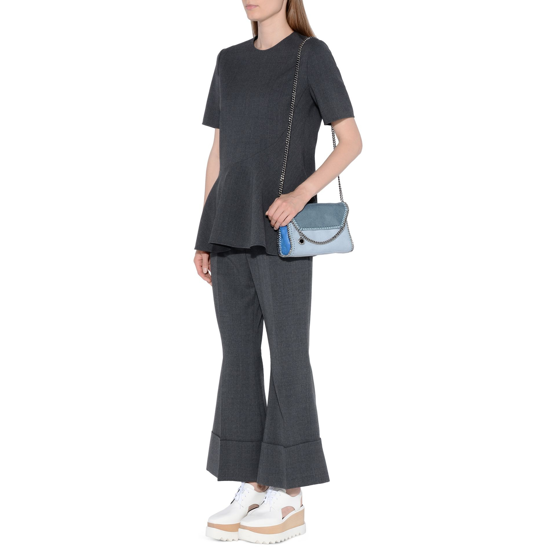 Lyst Stella Mccartney Gilda Trousers In Gray