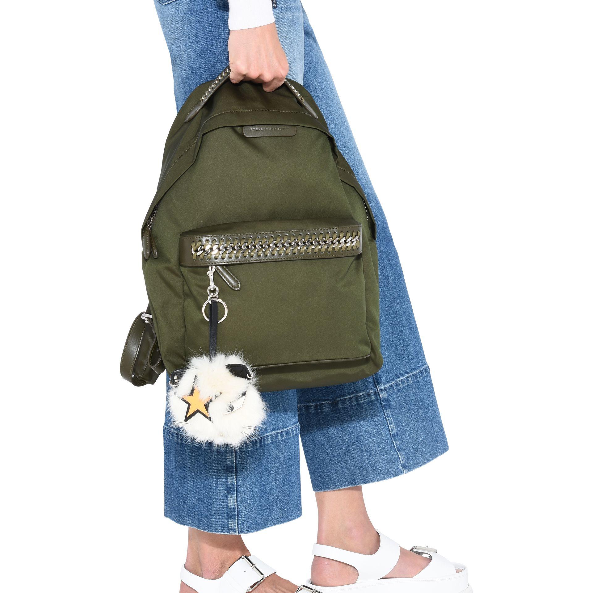 a6100e6e9d49 Stella McCartney Khaki Falabella Go Backpack in Green - Lyst