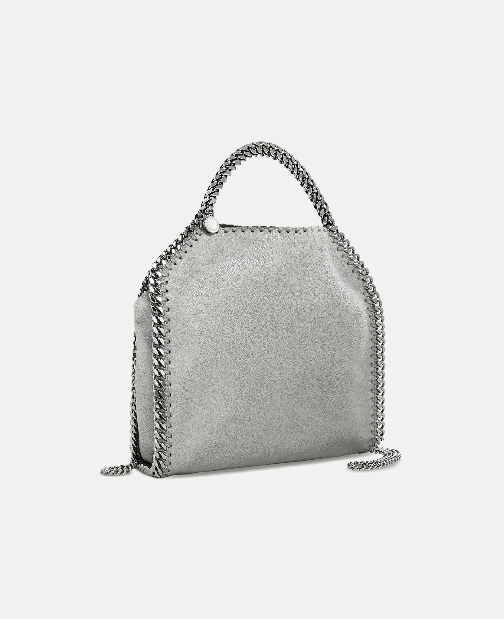 70f269d6ddc Lyst - Stella McCartney Light Gray Falabella Shaggy Deer Mini Tote ...