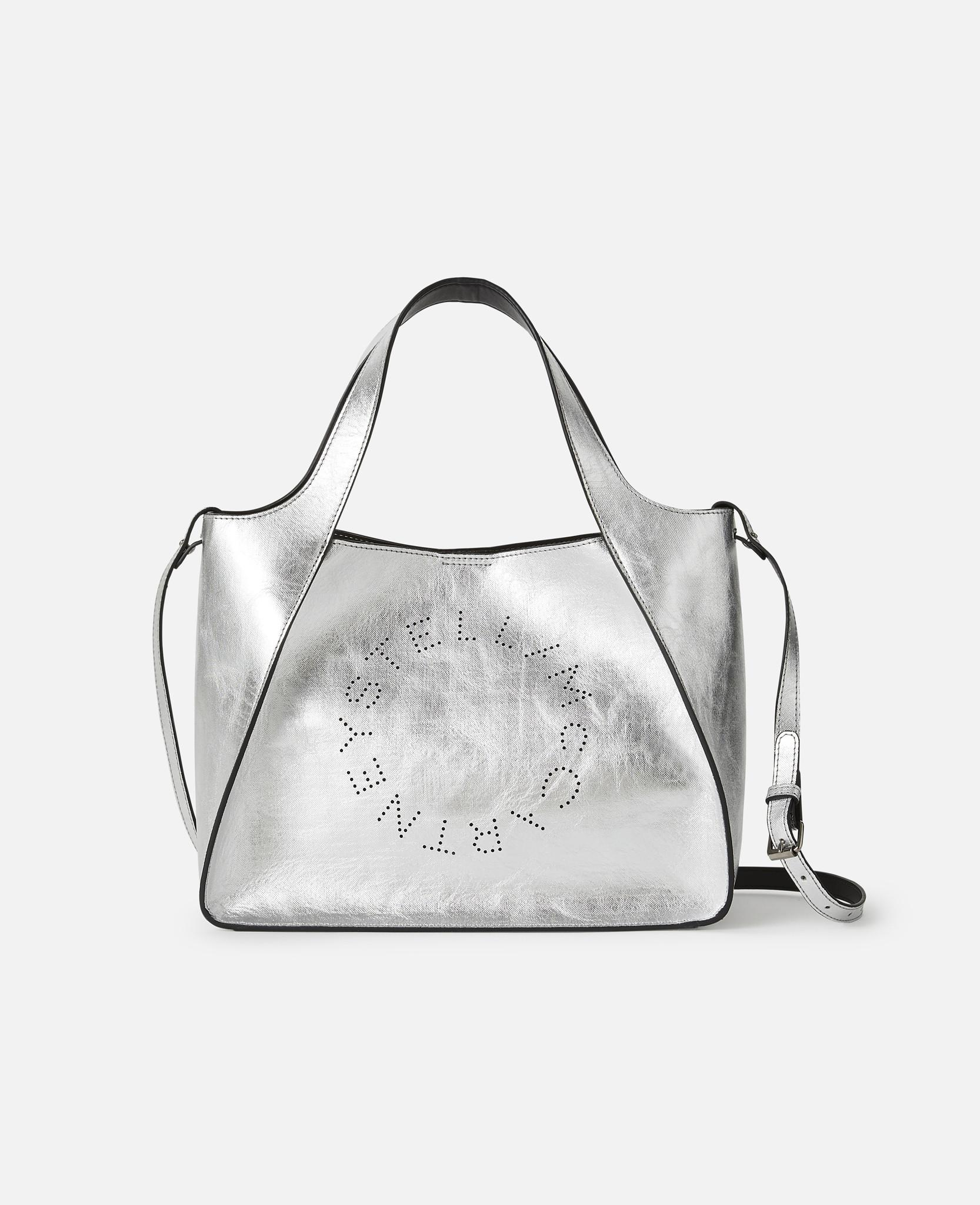 92d8d90250ac Lyst - Stella McCartney Stella Logo Cross Body Bag in Gray