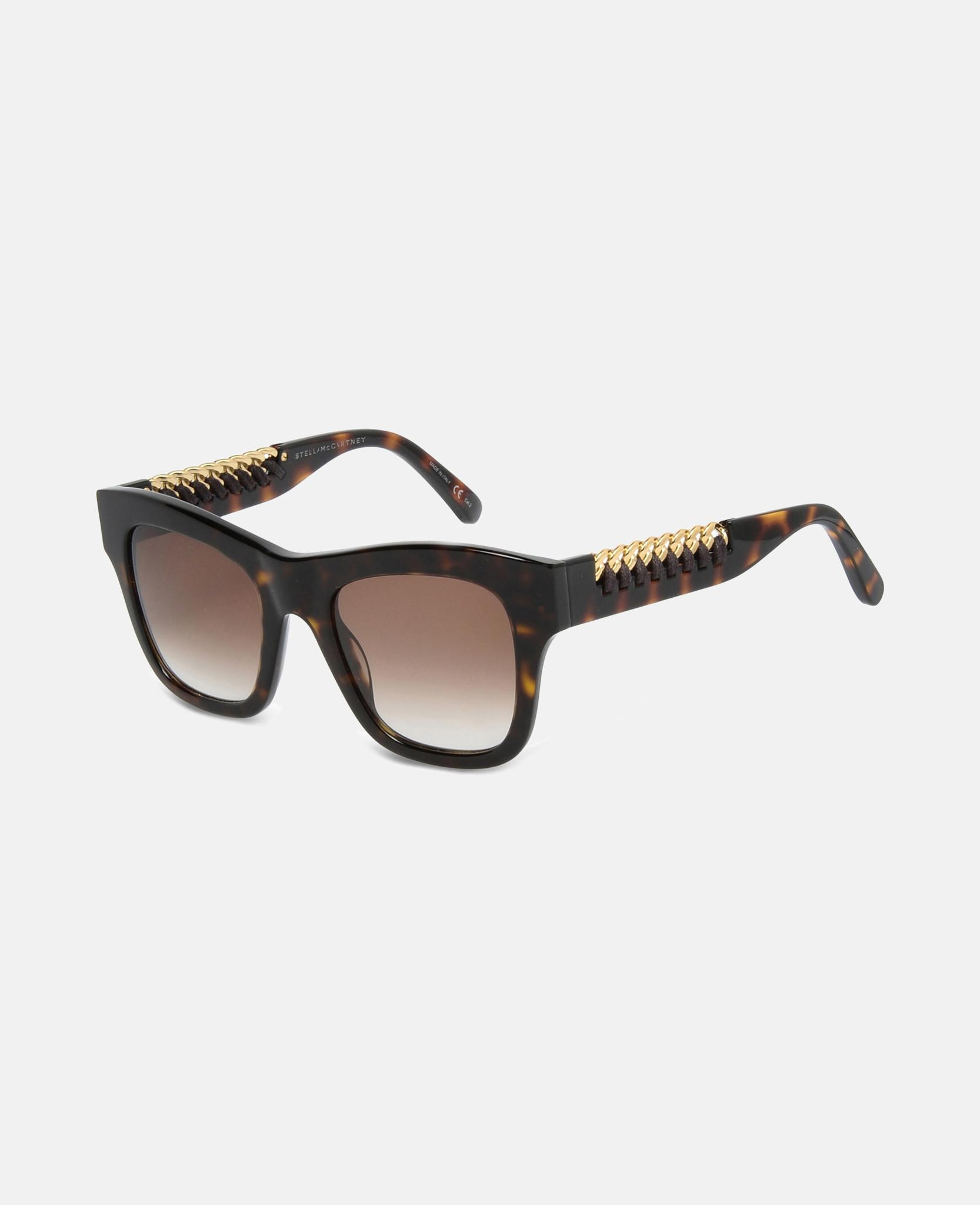 f0116196c7 Stella McCartney - Metallic Havana Falabella Square Sunglasses - Lyst. View  fullscreen