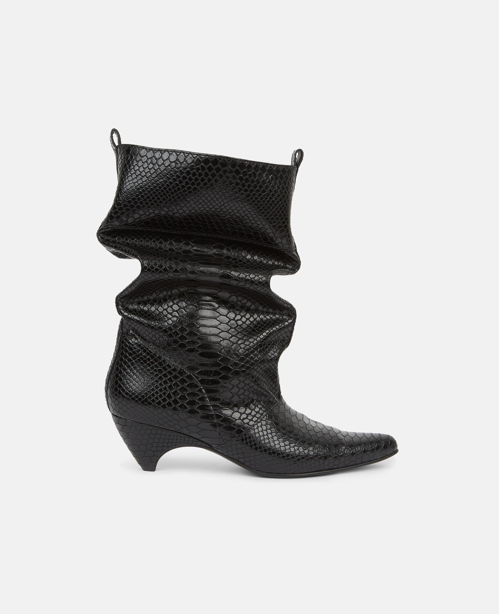 20324a7f2a0 Lyst - Stella McCartney Black Slouchy Boots in Black - Save 40.0%