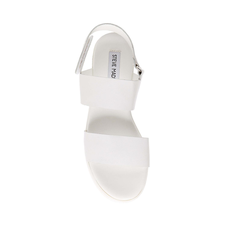 a2663205b96f Lyst - Steve Madden Rachel Wedge Sandal in White
