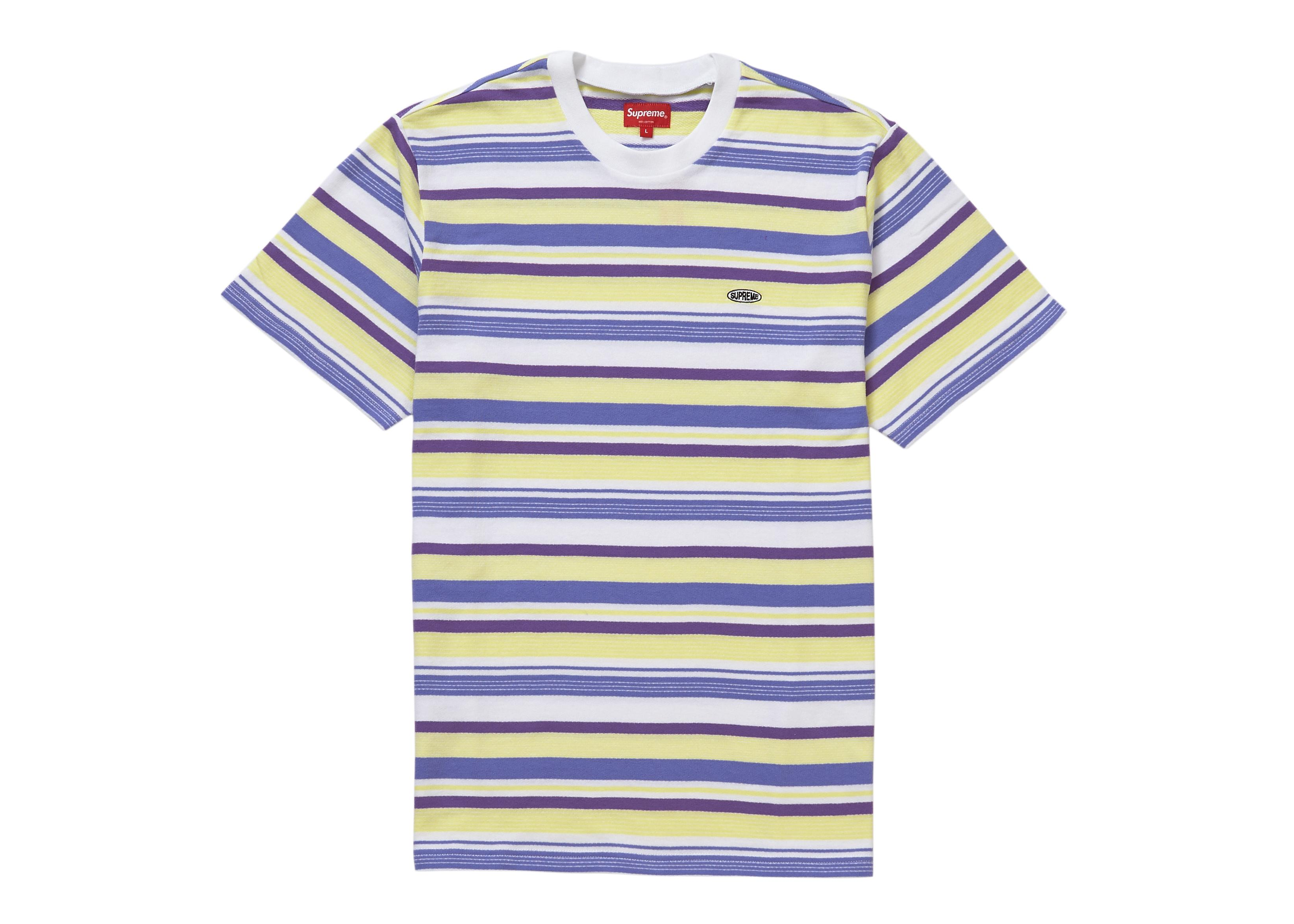 9e04e04cc3ee Lyst - Supreme Multi Stripe Ss Top (ss19) White in White for Men
