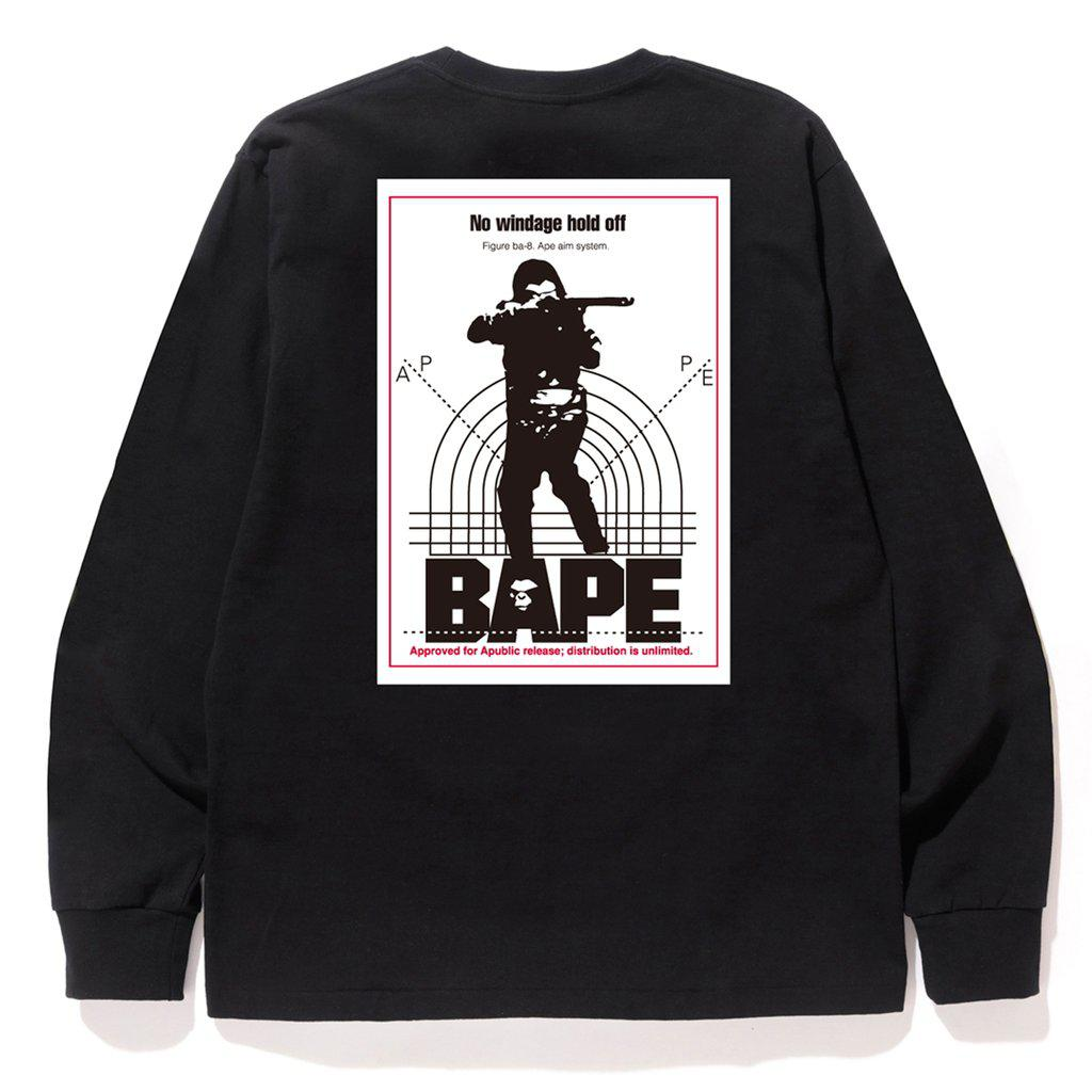 b6e7f4a7 Lyst - A Bathing Ape Hunting Long Sleeve Tee Black in Black for Men