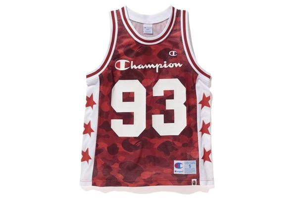 65531ebe0376e8 Lyst - A Bathing Ape Champion Color Camo Mesh Tank Top Red in Red ...