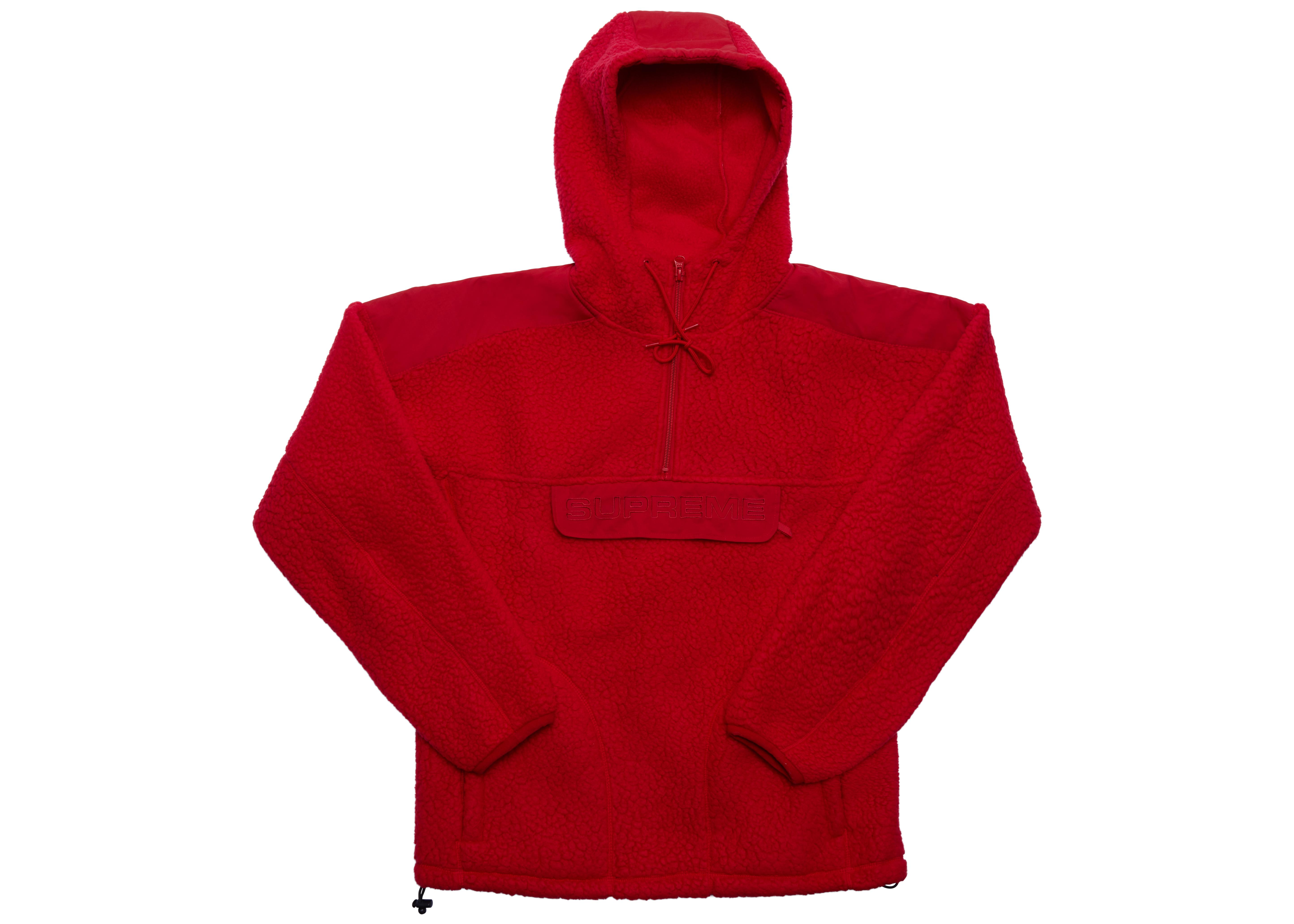 56f5ad54 Tap to visit site. Supreme - Polartec Hooded Half Zip Pullover Red for Men  - Lyst