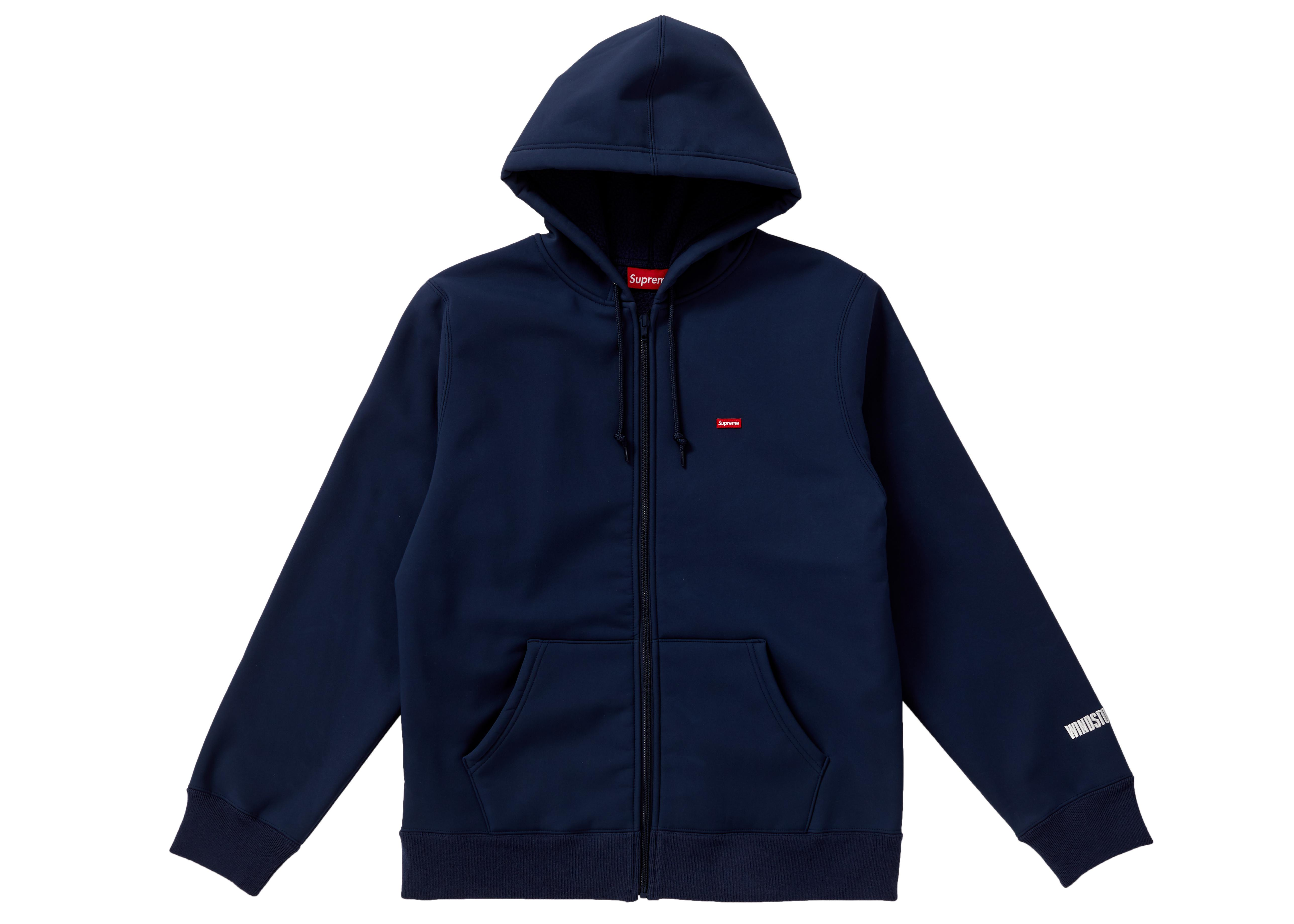 23db33e2ff50 Supreme - Blue Windstopper Zip Up Hooded Sweatshirt Navy for Men - Lyst.  View fullscreen