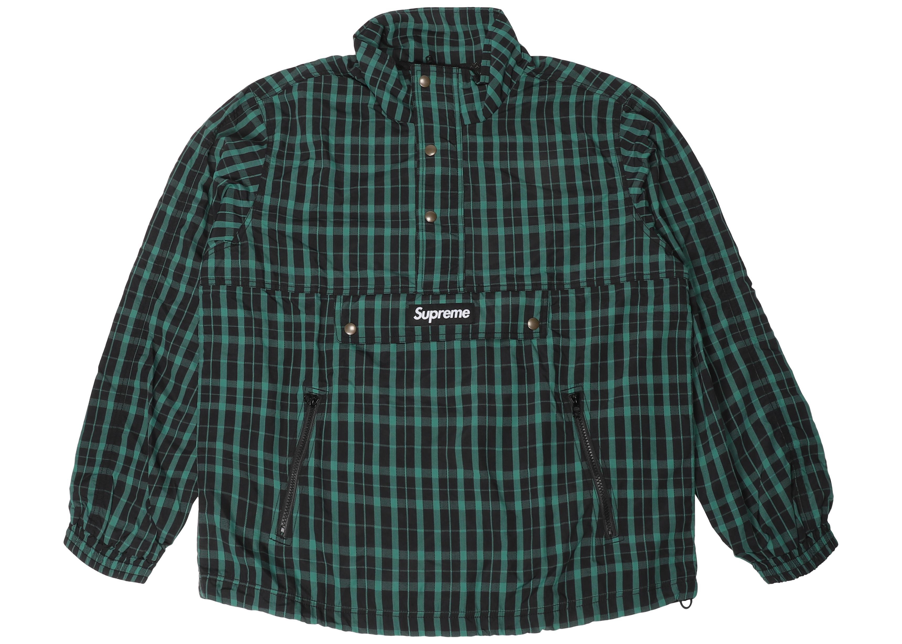 65f61e70e Lyst - Supreme Nylon Plaid Pullover Green in Green for Men - Save 54%