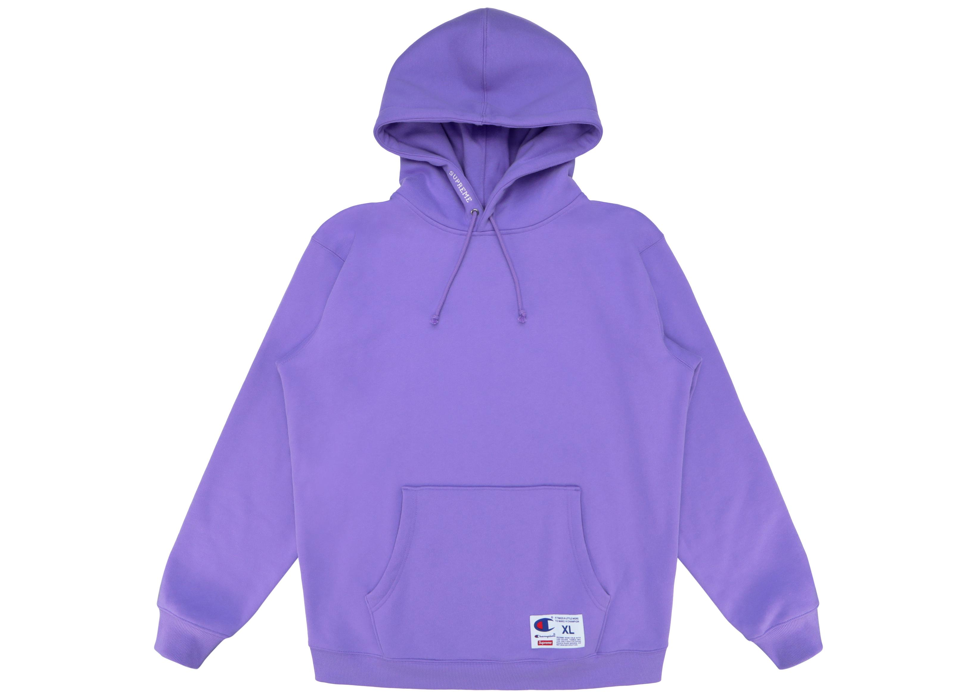 b8839aba6316 Tap to visit site. Supreme - Champion Hooded Sweatshirt (ss18) Light Purple  ...