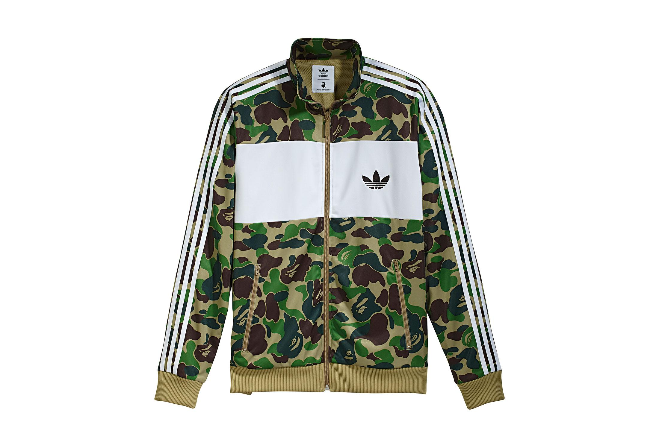 cf7d9b2f7f31 A Bathing Ape - X Adidas Abc Camo Track Jacket Green for Men - Lyst. View  fullscreen