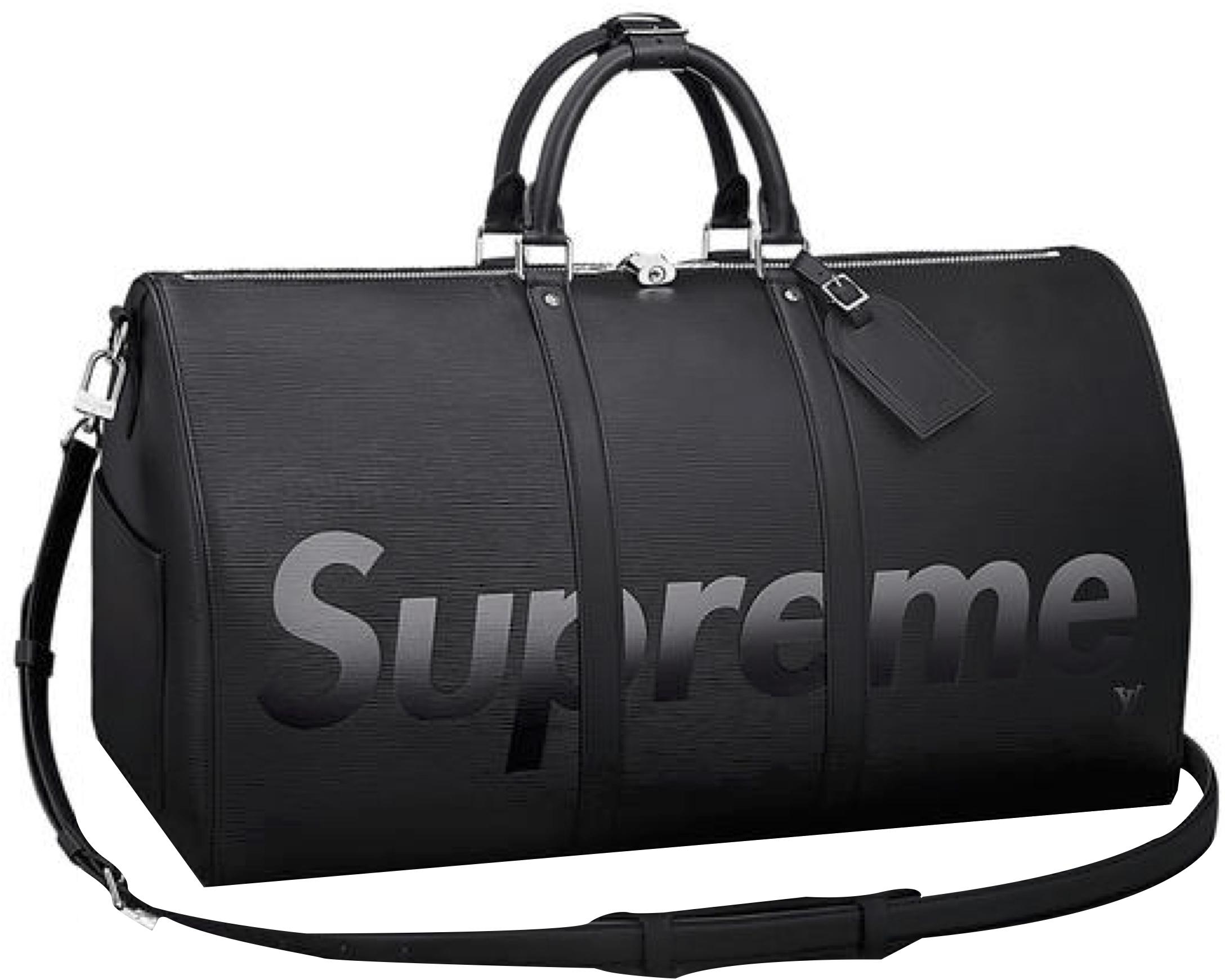 8ade6bf9079 Lyst - Supreme Louis Vuitton X Keepall Bandouliere Epi 55 Black in Black