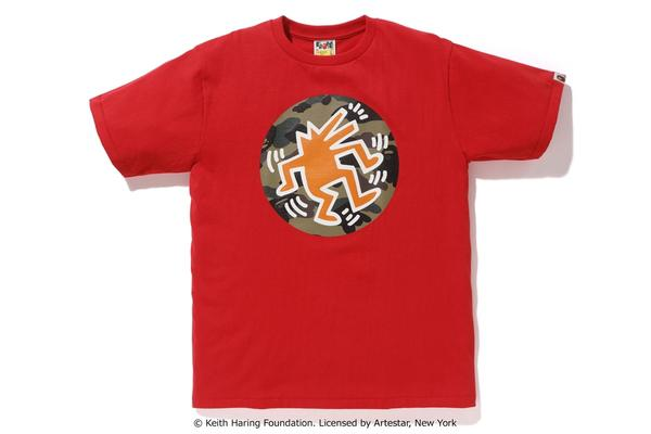 14216b3f836cf Lyst - A Bathing Ape Keith Haring Tee 5 Red in Red for Men