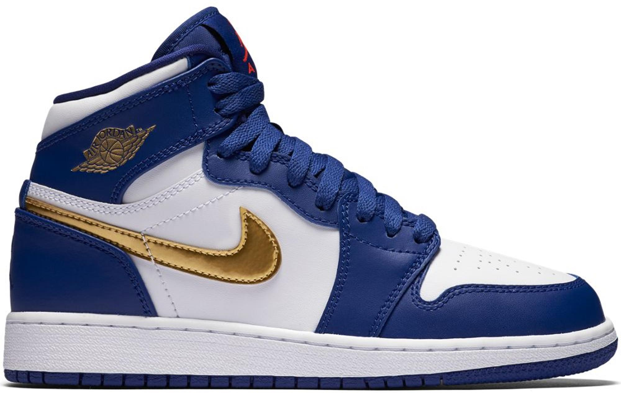 Lyst - Nike 1 Retro High Gold Medal (gs) in Blue for Men 655695c39be1