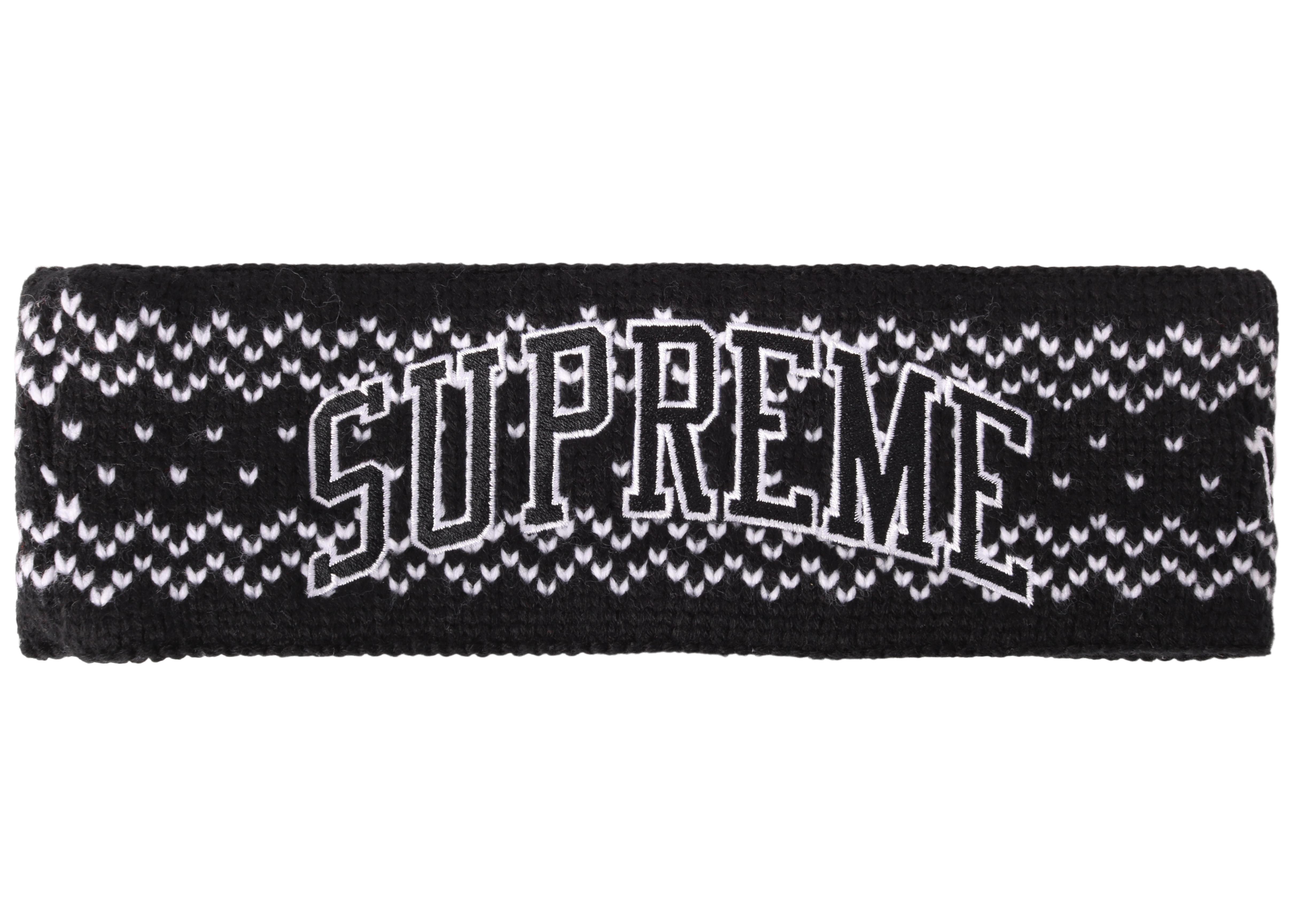 Lyst - Supreme New Era Arc Logo Headband (fw17) Black in Black 348b6b1f89e6