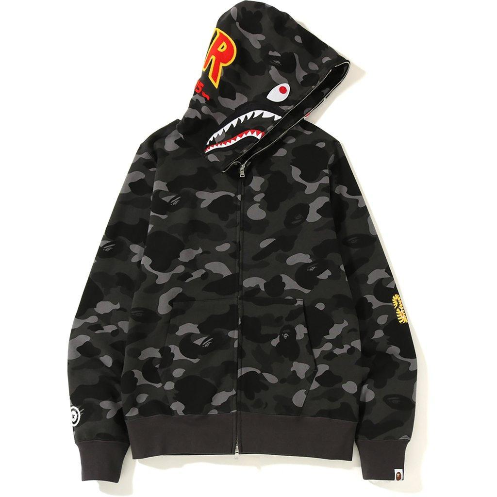 44c0cd0b A Bathing Ape - Color Camo 2nd Shark Full Zip Hoodie Black for Men - Lyst.  View fullscreen