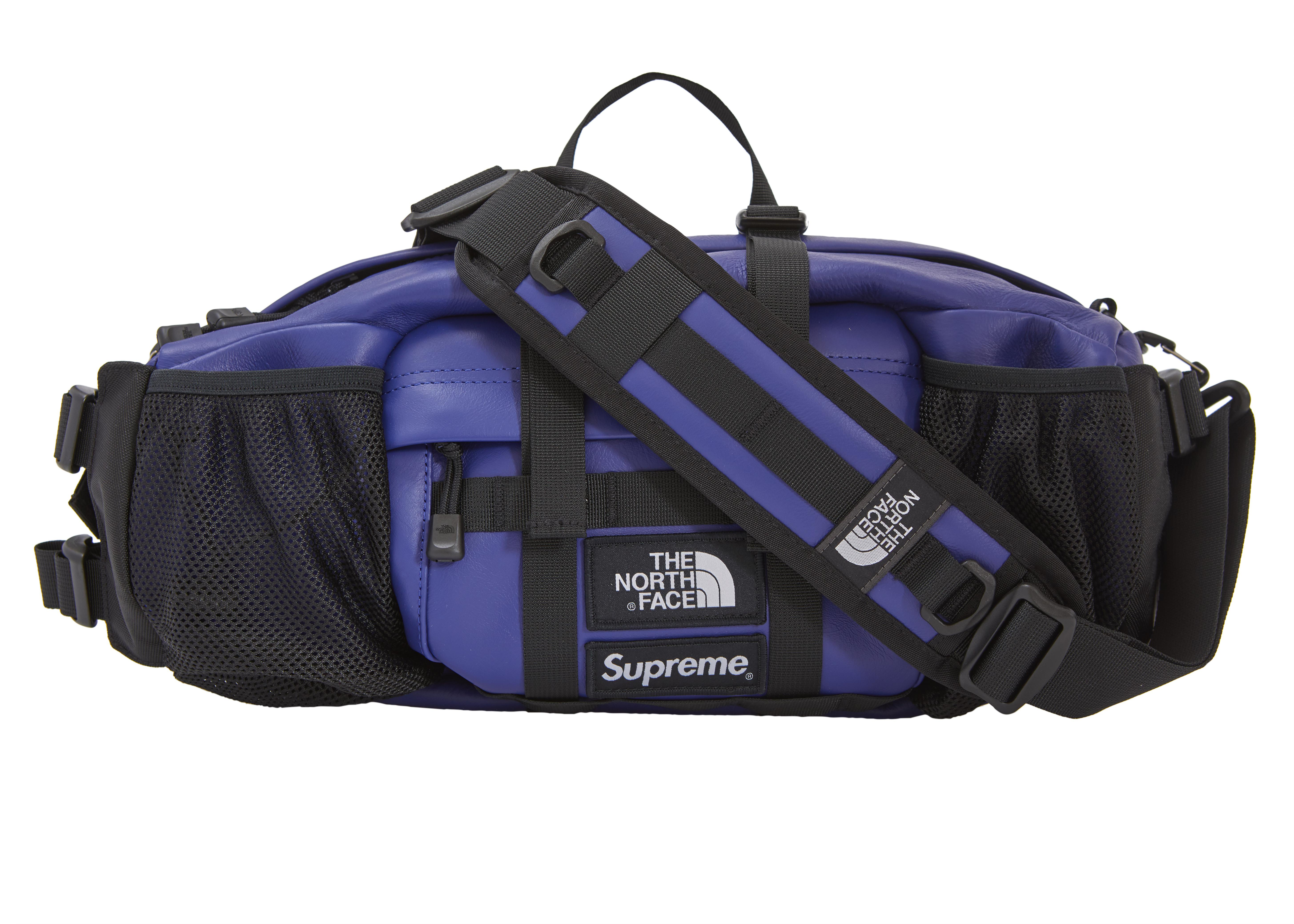 83949966 Supreme The North Face Leather Mountain Waist Bag Royal in Blue for ...