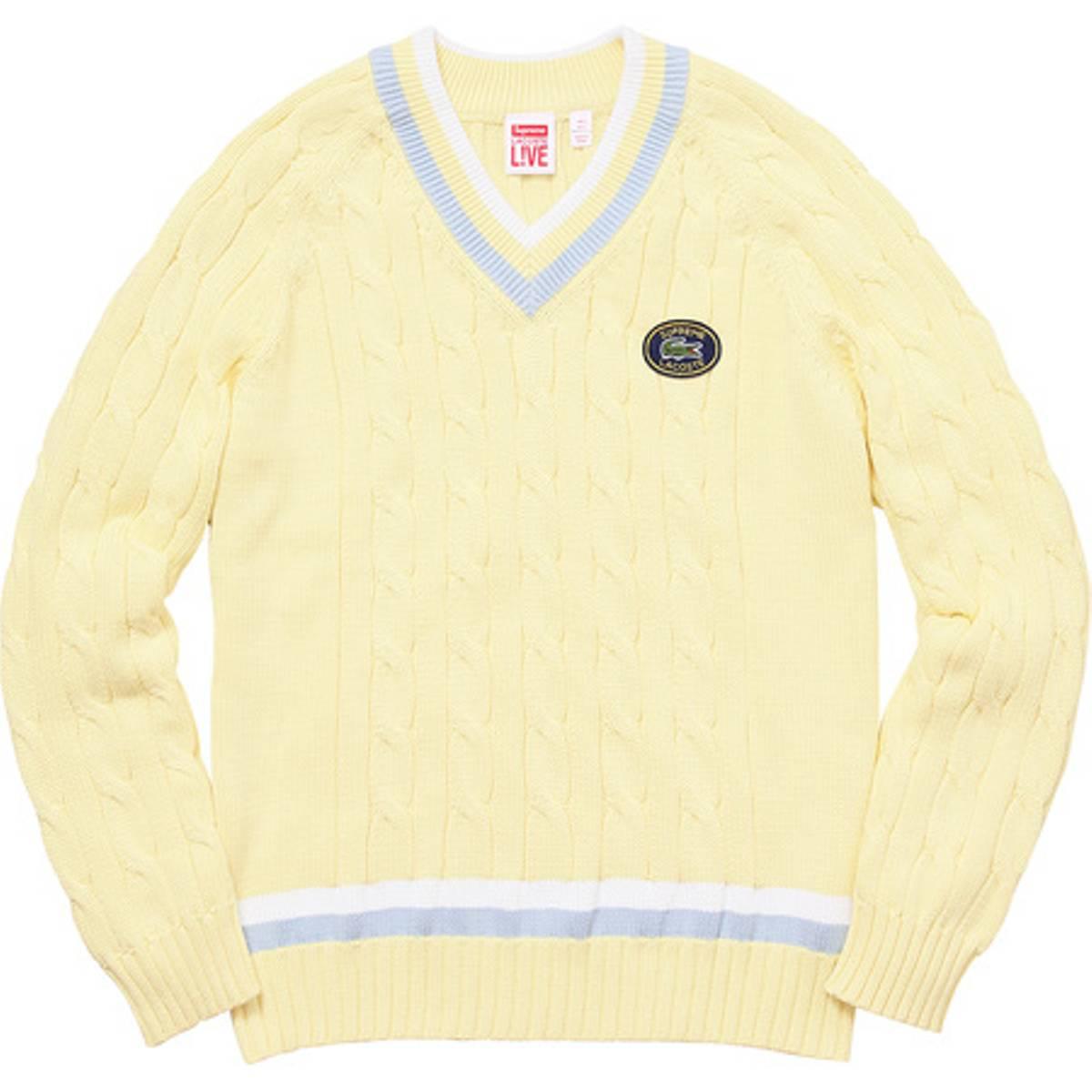 acc84b24c484e Supreme - Yellow Lacoste Tennis Sweater for Men - Lyst. View fullscreen