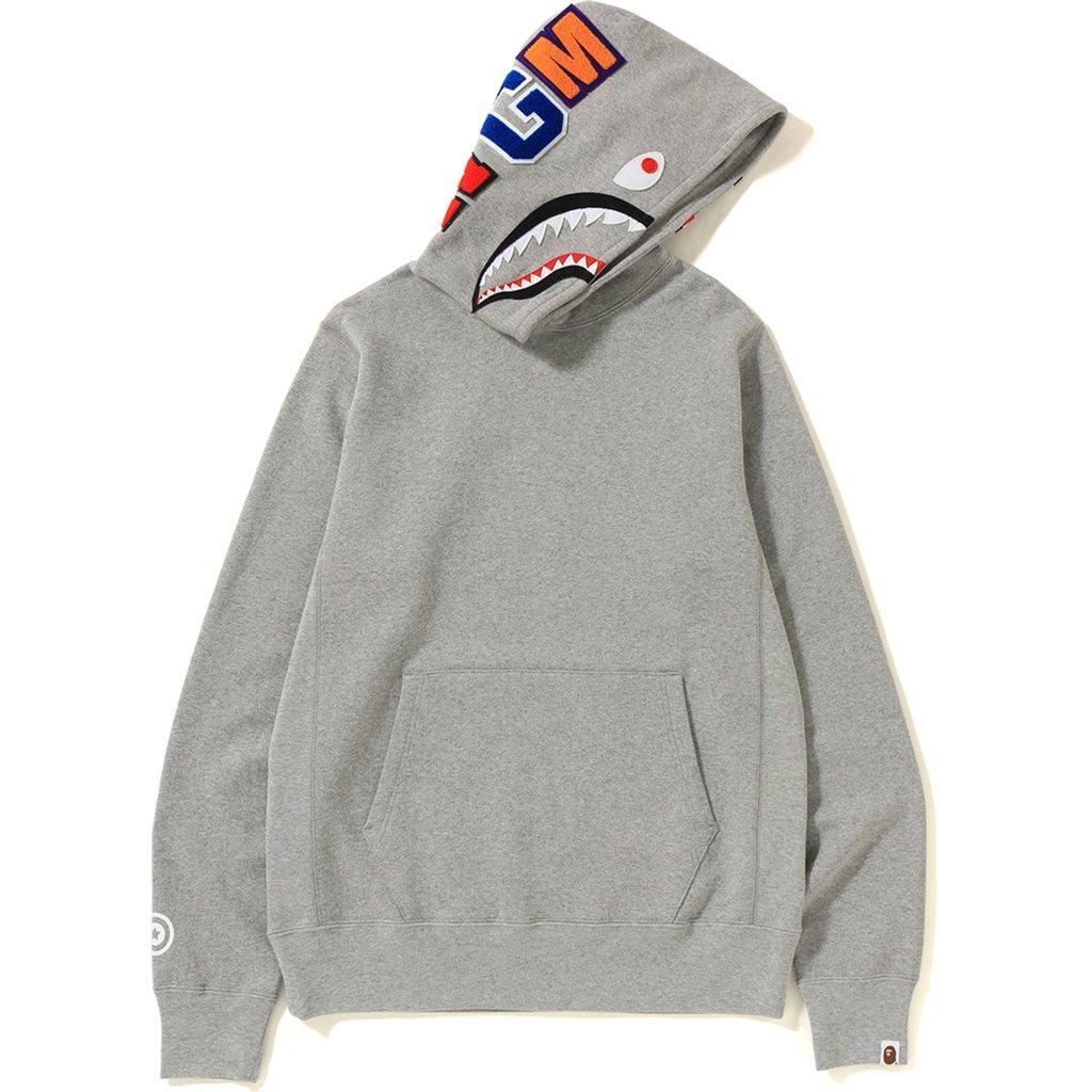 4e411801 A Bathing Ape Gray Shark Pullover Hoodie Grey for men. View fullscreen