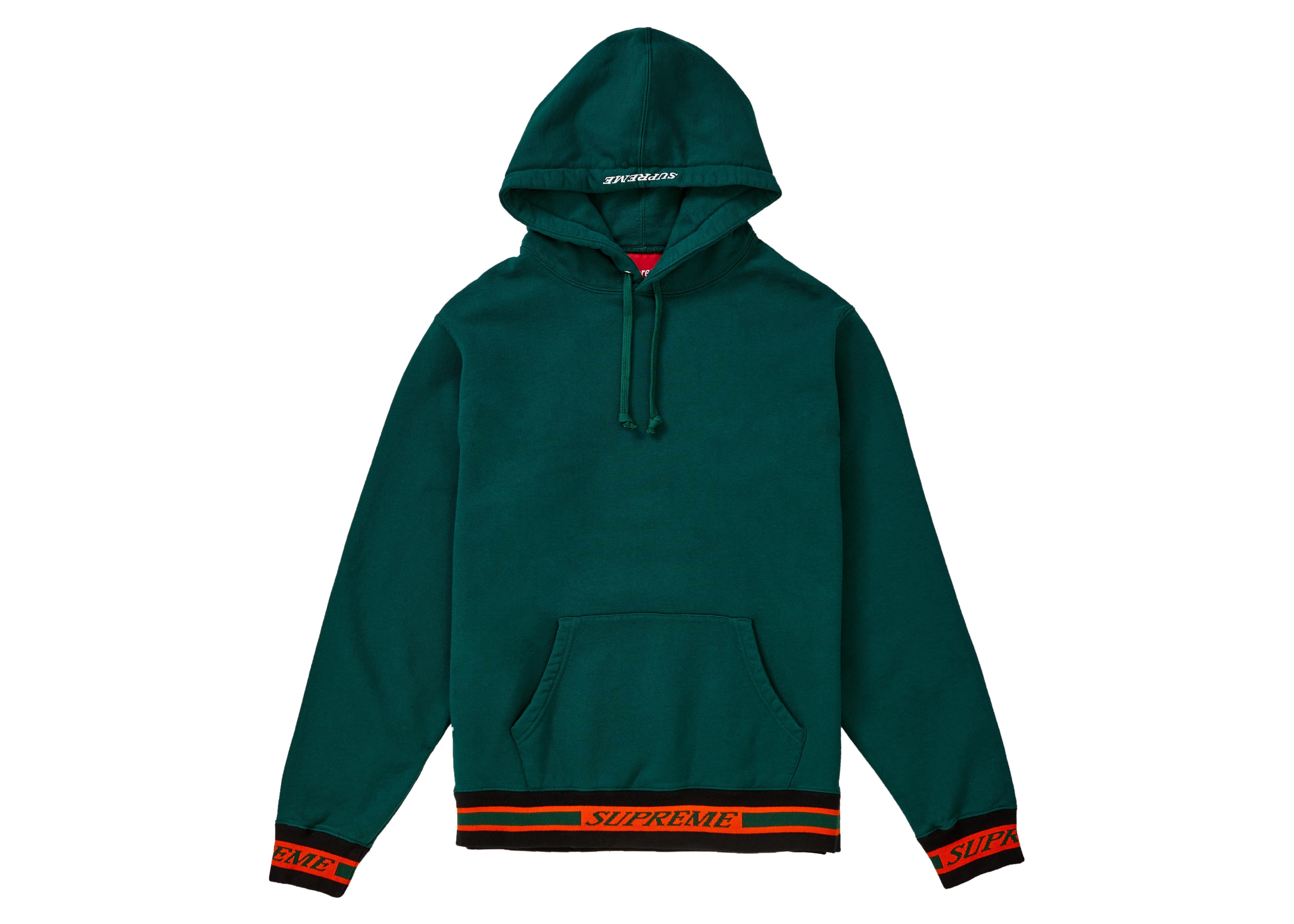 cbbf03322998 Lyst - Supreme Striped Rib Hooded Sweatshirt Dark Green in Green for Men