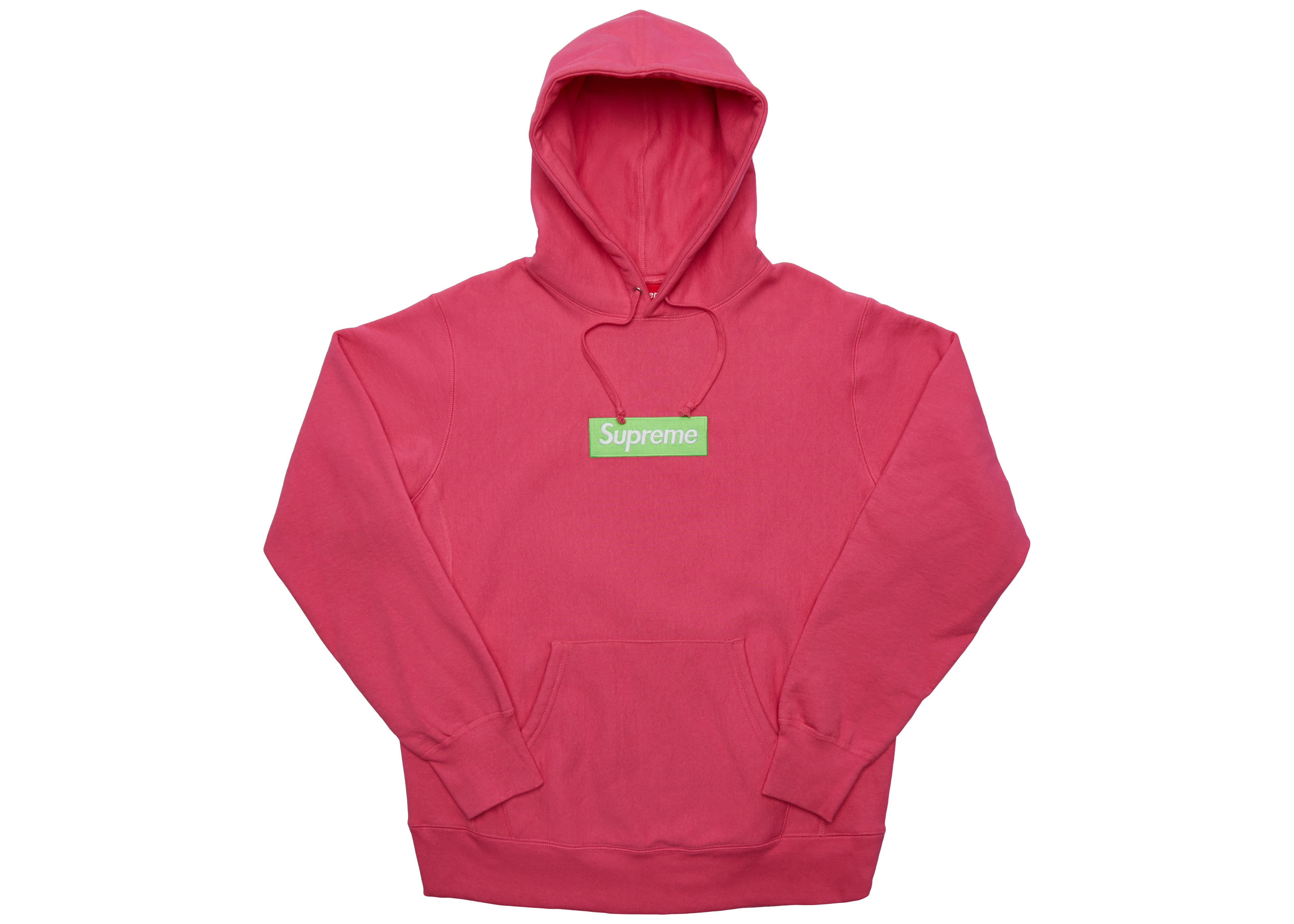 e111a60d Supreme Box Logo Hooded Sweatshirt (fw17) Magenta in Pink for Men - Lyst