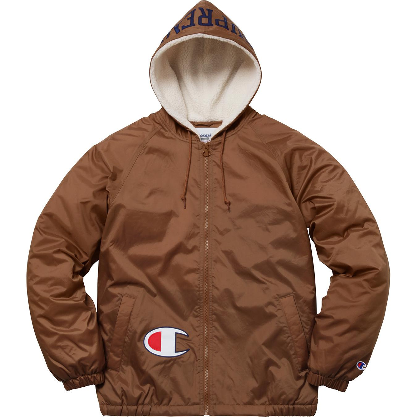 4b3028ae Supreme Champion Sherpa Lined Hooded Jacket Brown in Brown for Men ...