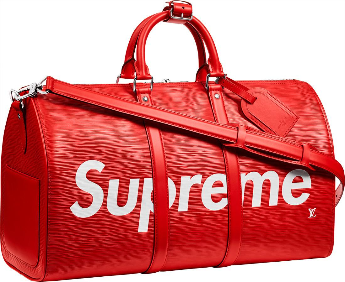 23e42875bf62 Lyst - Supreme Louis Vuitton X Keepall Bandouliere Epi 45 Red in Red ...