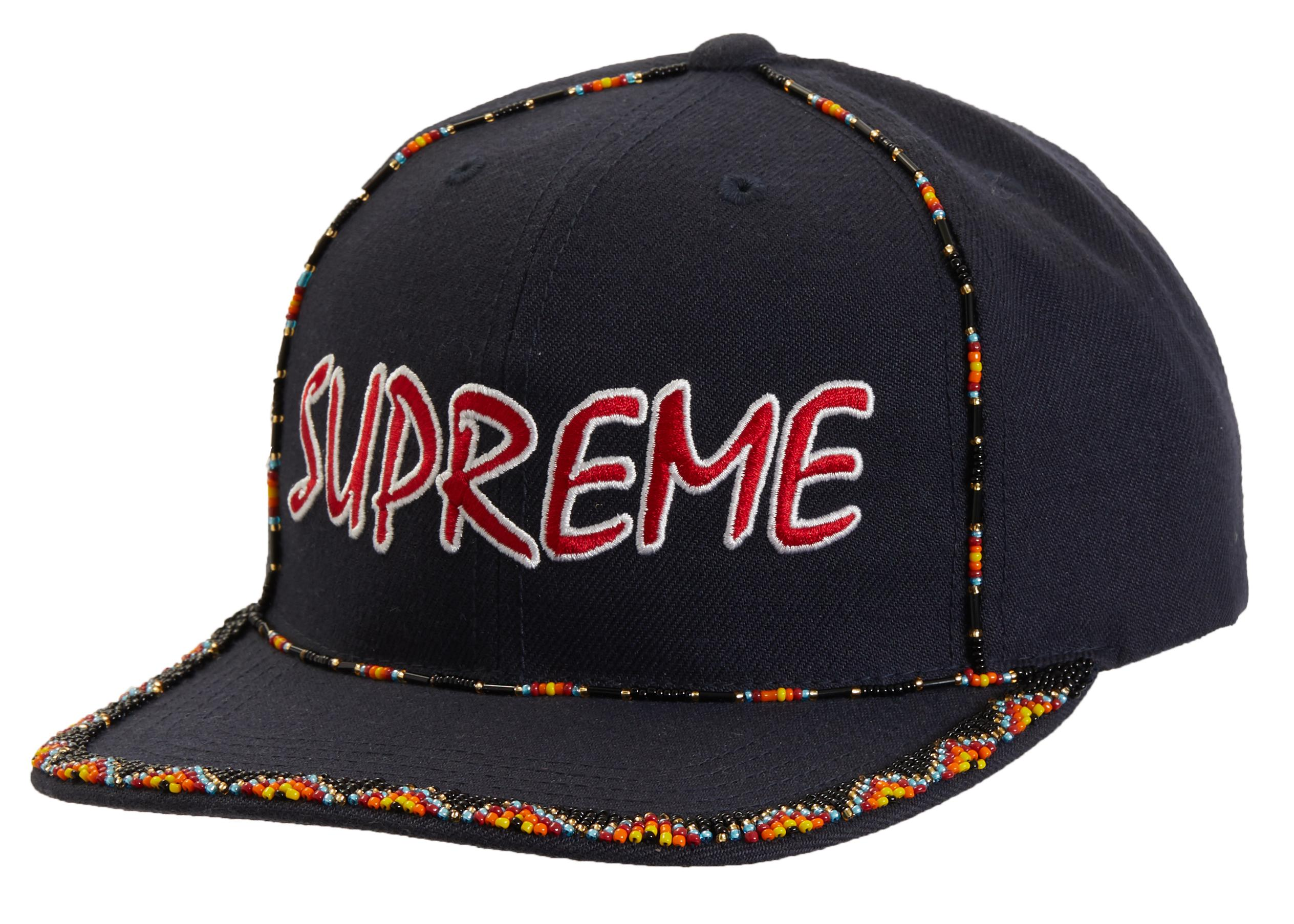36742a0c Supreme Beaded 6-panel Navy in Blue for Men - Lyst