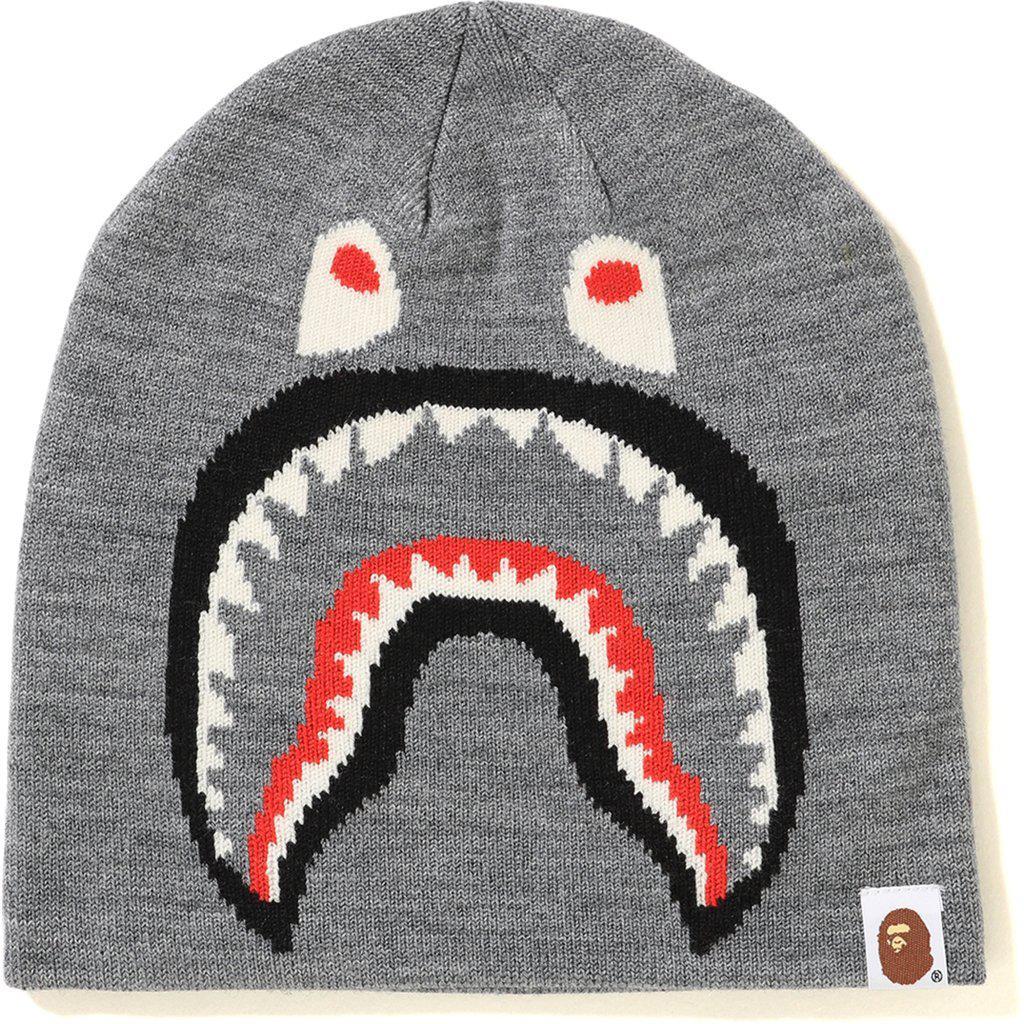 c427f8c275e Lyst - A Bathing Ape 2nd Shark Knit Cap Grey in Gray for Men