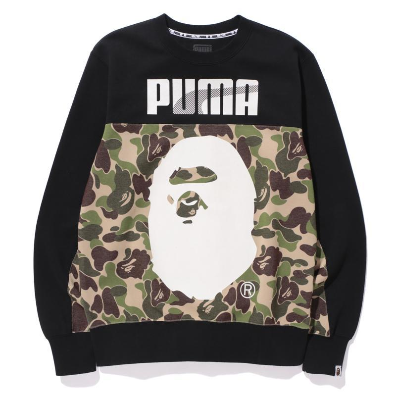 635f72f6 Lyst - A Bathing Ape X Puma Abc Camo Crewneck Sweatshirt Green/black ...