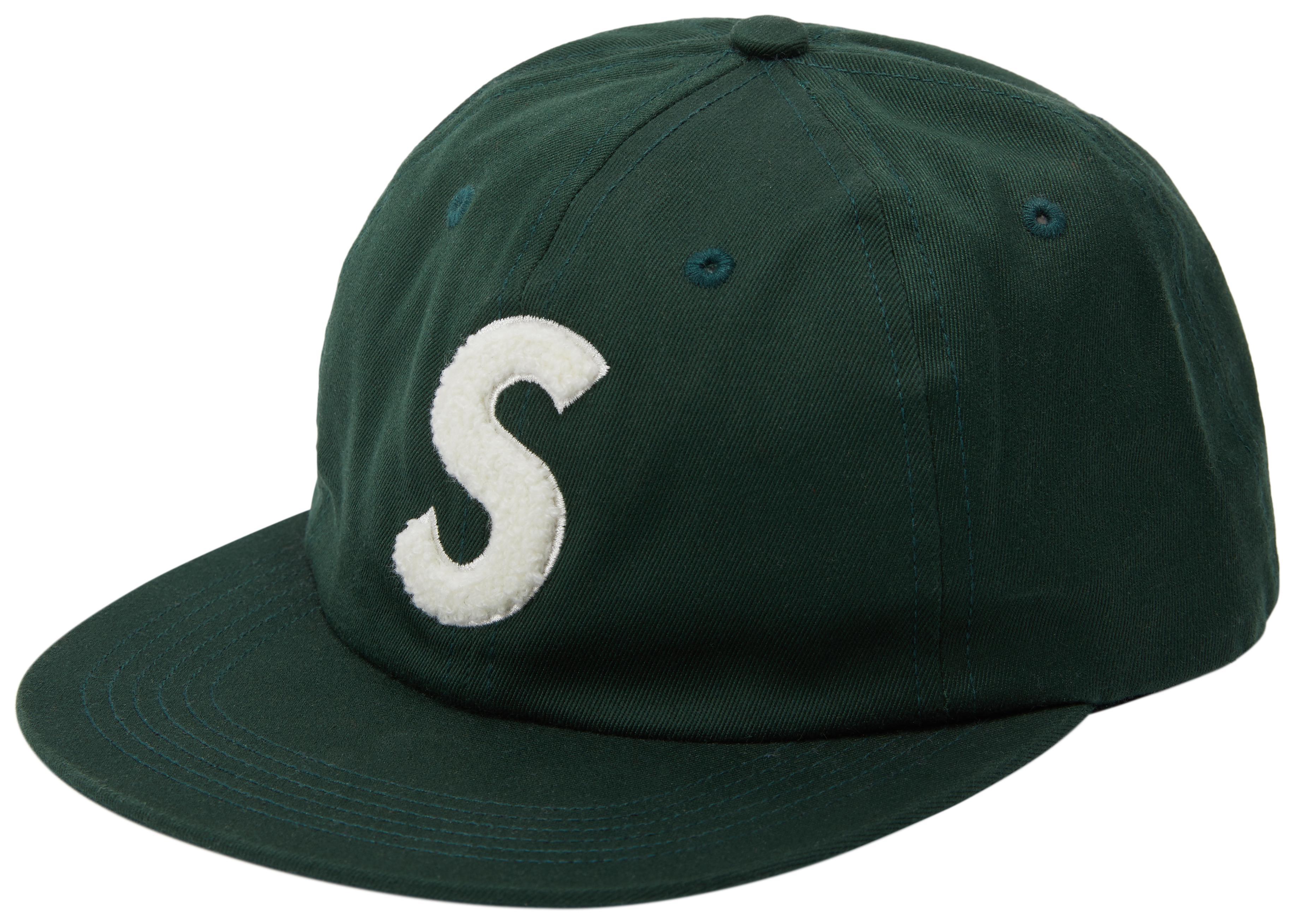 0b4b5a37 Lyst - Supreme Chenille S Logo 6 Panel Dark Green in Green for Men
