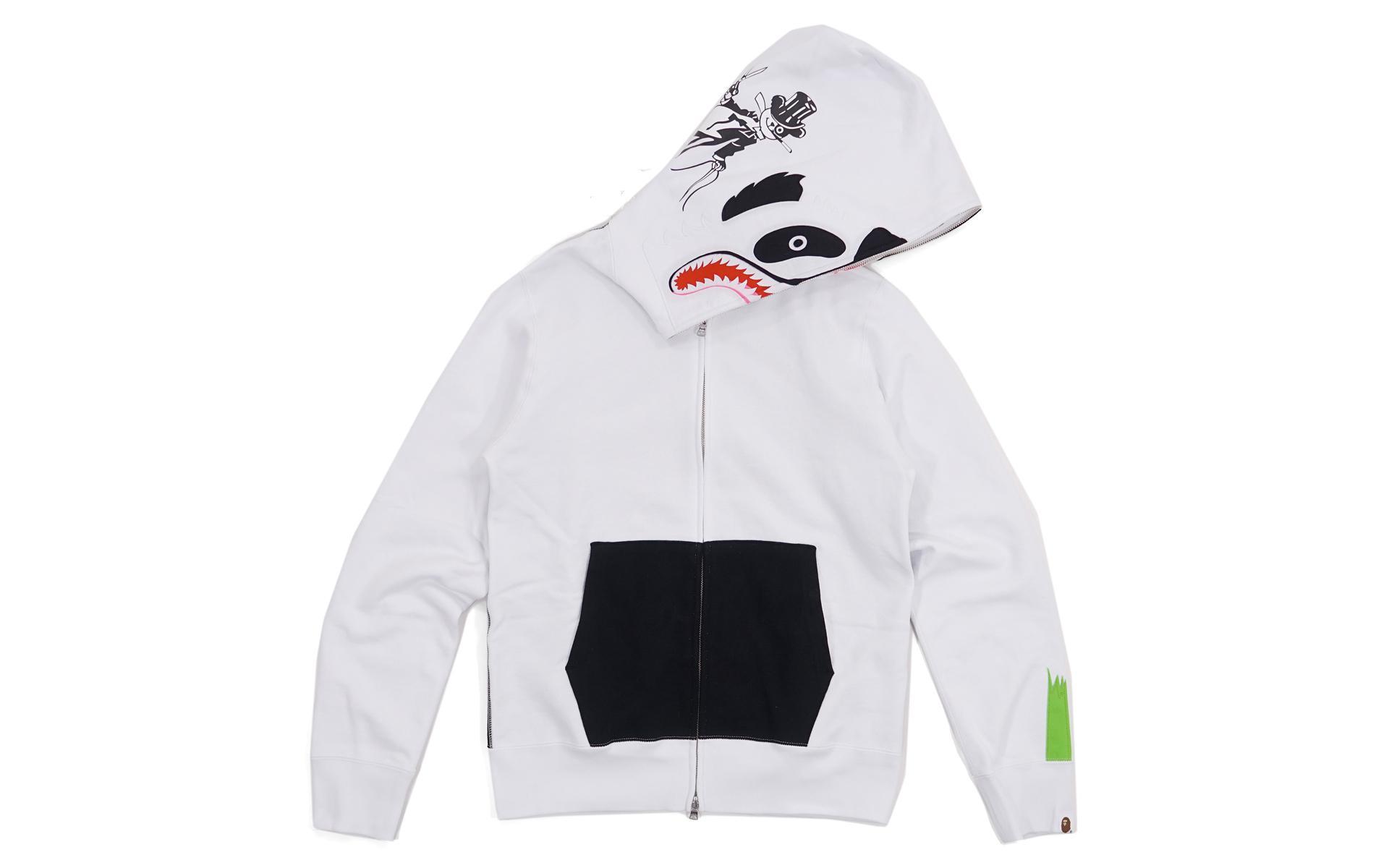 0f2ff13a599c Lyst - A Bathing Ape Two Tone Panda Hoodie White black in White for Men