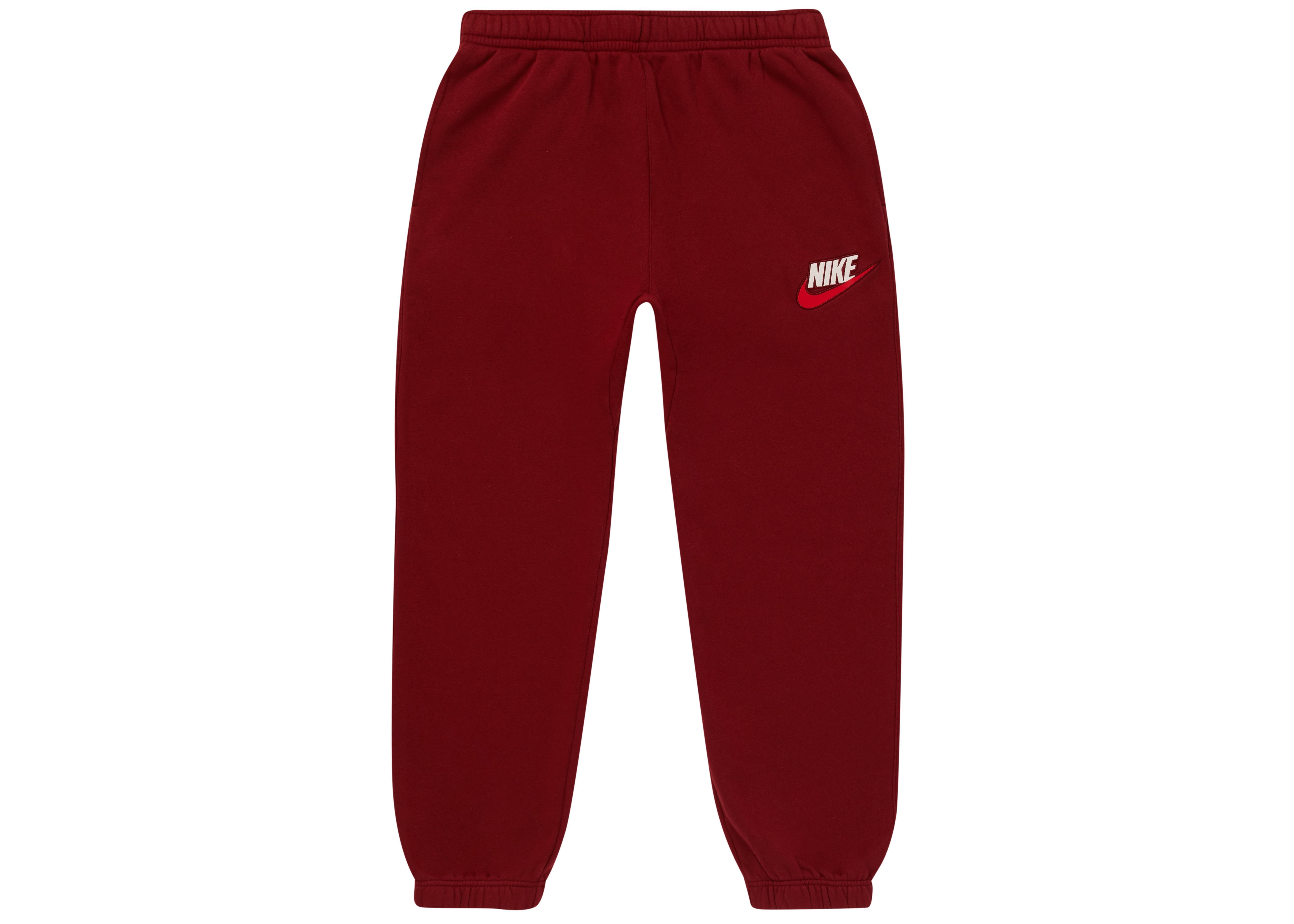 ccfea193 Supreme - Red Nike Sweatpant Burgundy for Men - Lyst. View fullscreen