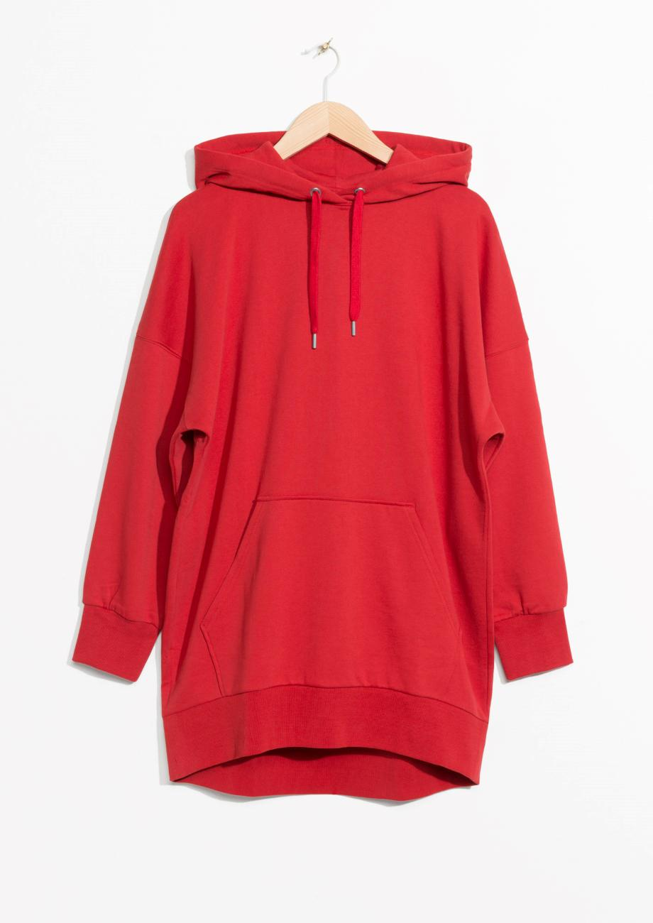 Lyst - u0026 Other Stories Oversized Hoodie Dress in Red