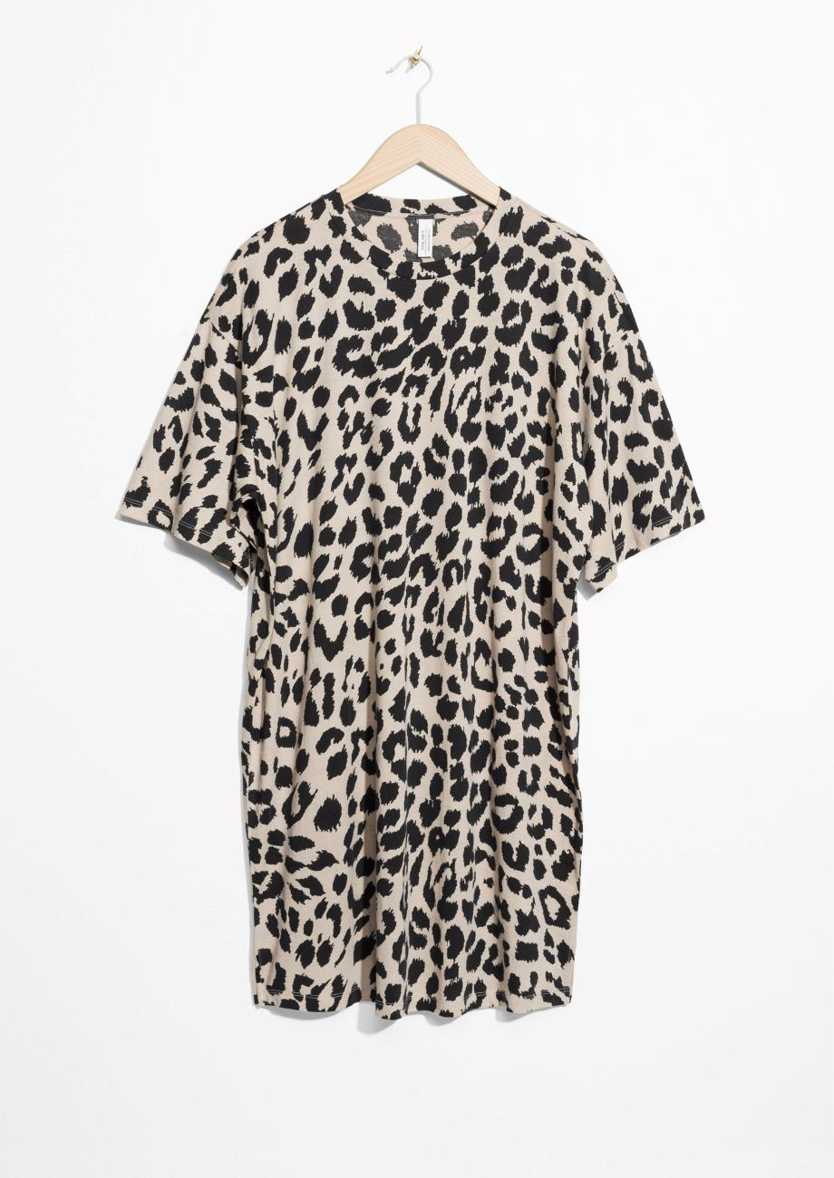 Other Stories Leo Print Dress in Black - Lyst d3dbbe0d7
