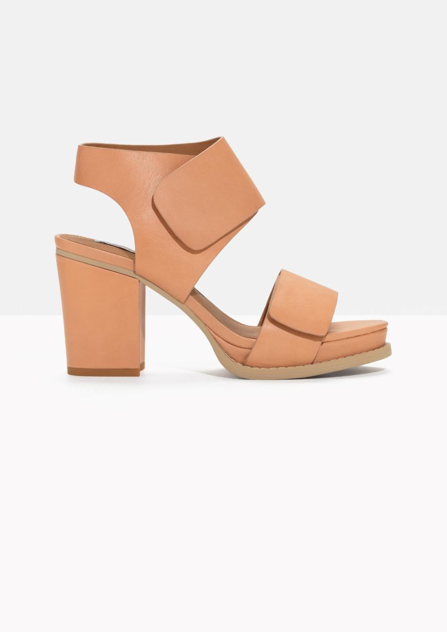 3e0229138df2 Lyst -   Other Stories Block Heel Sandals in Natural