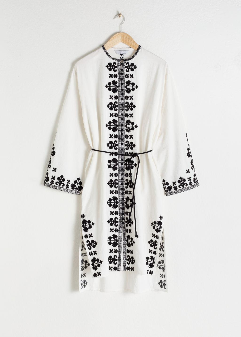 bc775d1f05 ... White Embroidered Cotton Kaftan - Lyst. View fullscreen