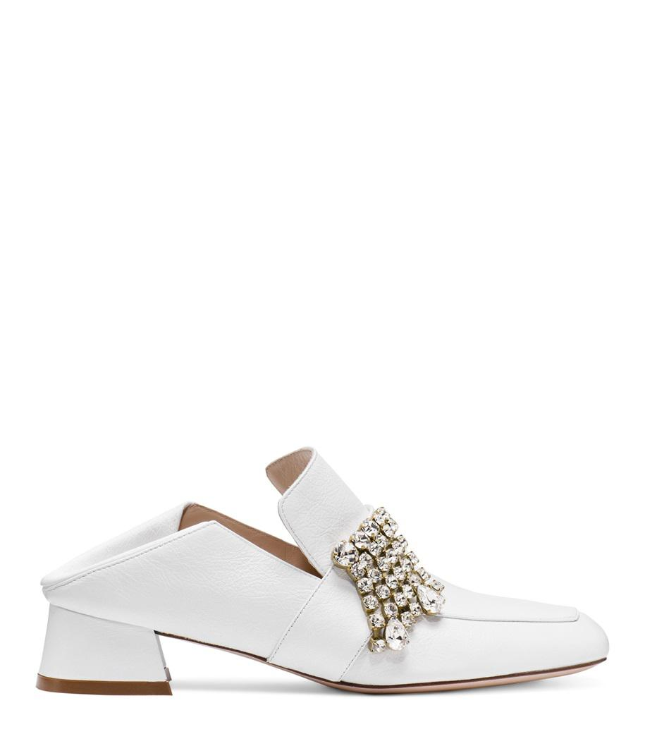 4563fb31d0f Lyst - Stuart Weitzman The Irises Loafer in White - Save 60%