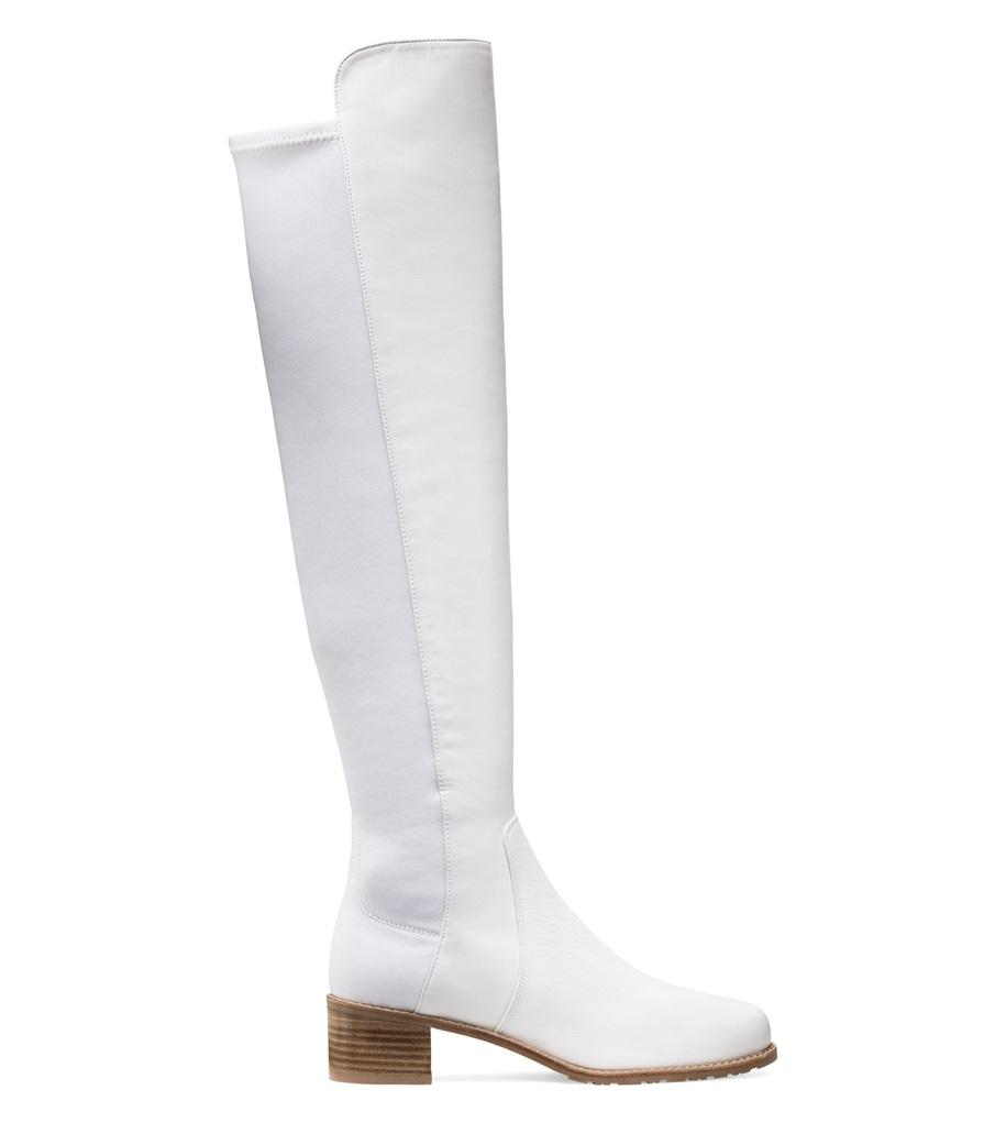 54322c42a56 Lyst - Stuart Weitzman The Reserve Boot in White