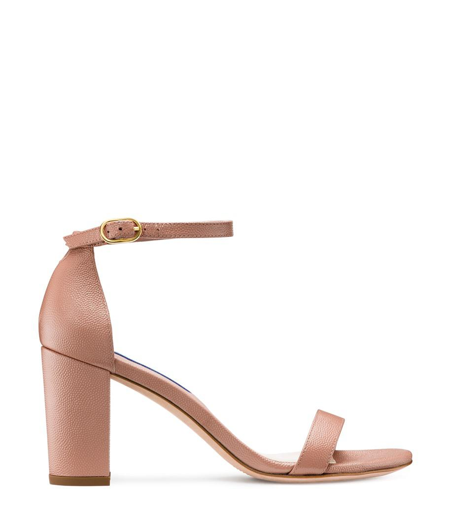 a5913aba949 Lyst - Stuart Weitzman The Nearlynude Sandal in Pink