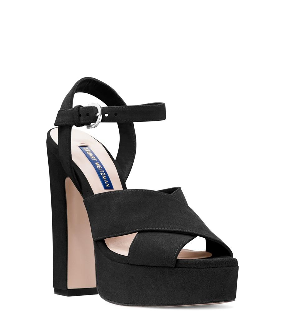 d7f68b7cd524 Stuart Weitzman - Black The Joni Sandal - Lyst. View fullscreen