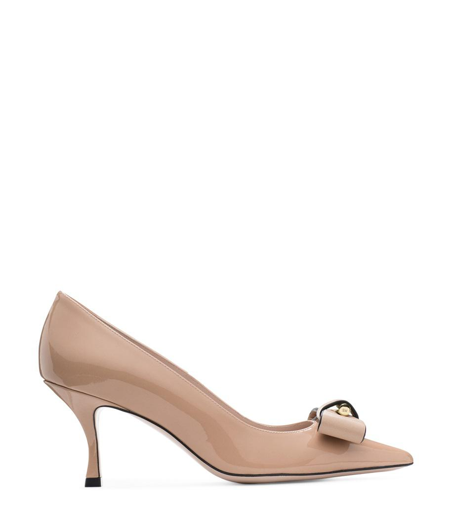 f388e41bb29 Lyst - Stuart Weitzman The Belle Pointe Pump in Natural - Save 60%