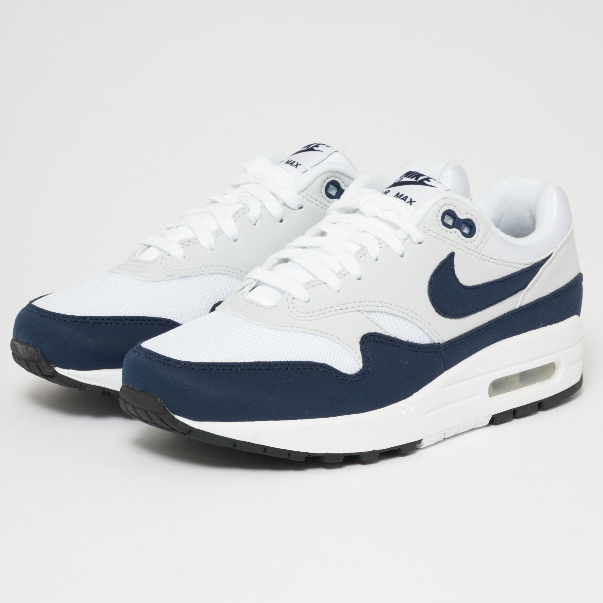 853b66de3cea Lyst - Nike Air Max 1 - White   Obsidian in White for Men