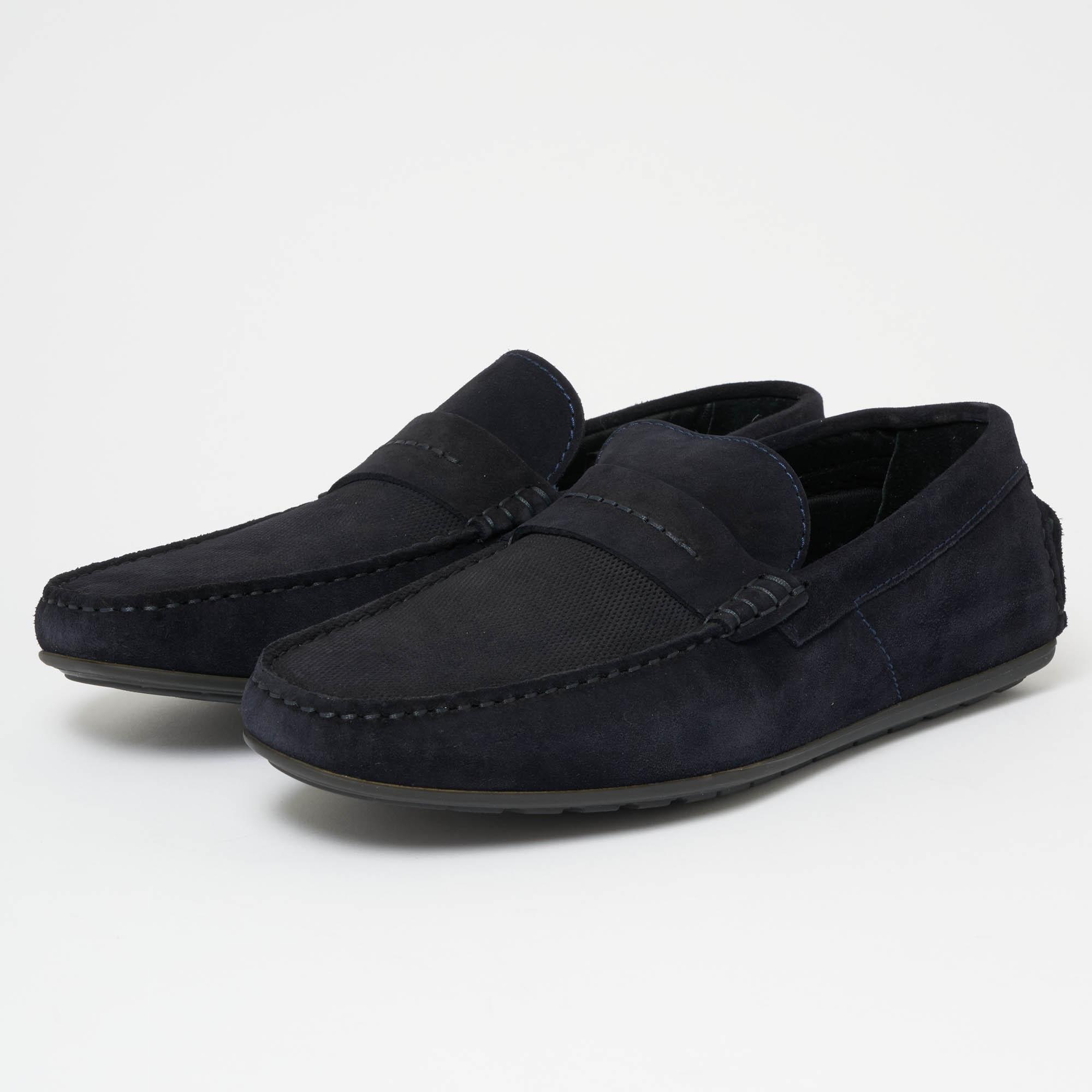 9ea005446f4 HUGO Hugo Boss Dandy Moccasin Dark Blue Shoe in Blue for Men - Lyst