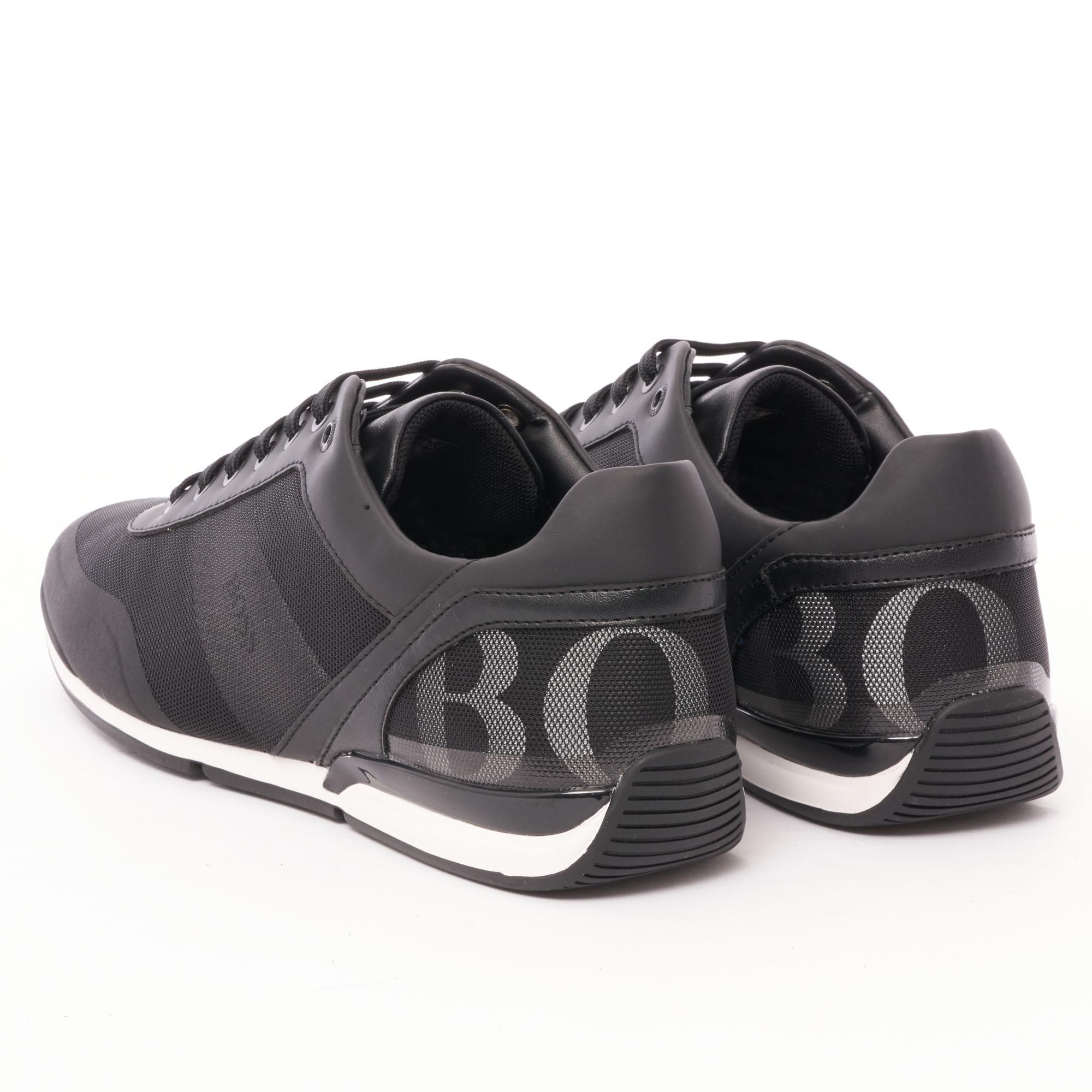 918431adbf BOSS - Saturn Low Act 3 Sneakers - Black for Men - Lyst. View fullscreen