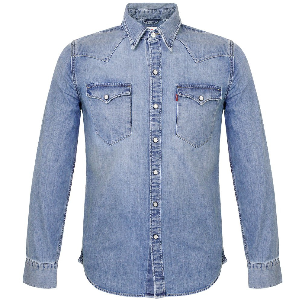 Levi 39 S Levi 39 S Barstow Stone Wash Denim Shirt For Men Lyst