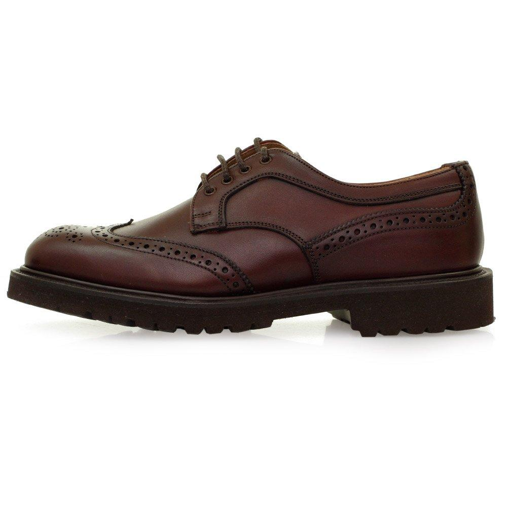 Leather Lace Up Derby Shoes M S Burgundy