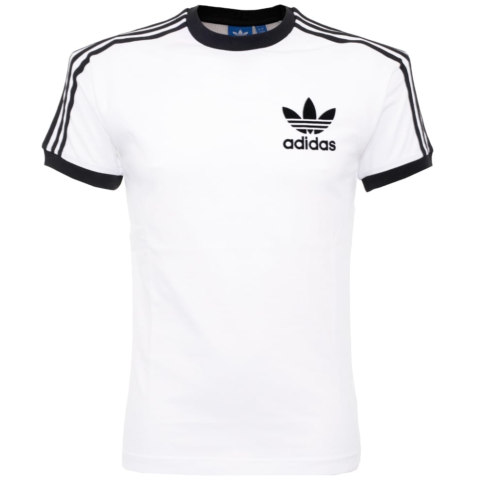 adidas originals california white t shirt in white for men white. Black Bedroom Furniture Sets. Home Design Ideas