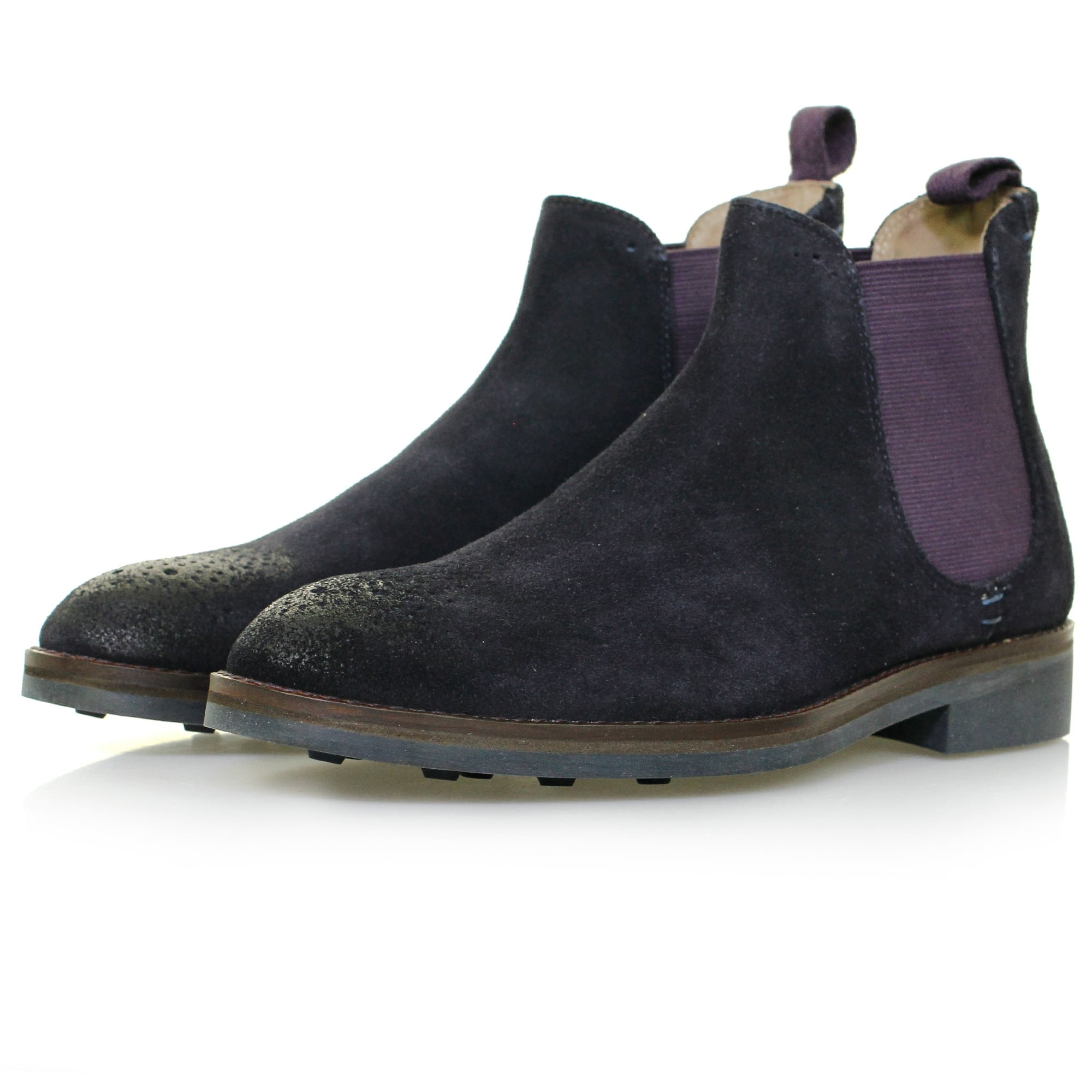 oliver sweeney burrows navy suede chelsea boots in blue lyst. Black Bedroom Furniture Sets. Home Design Ideas